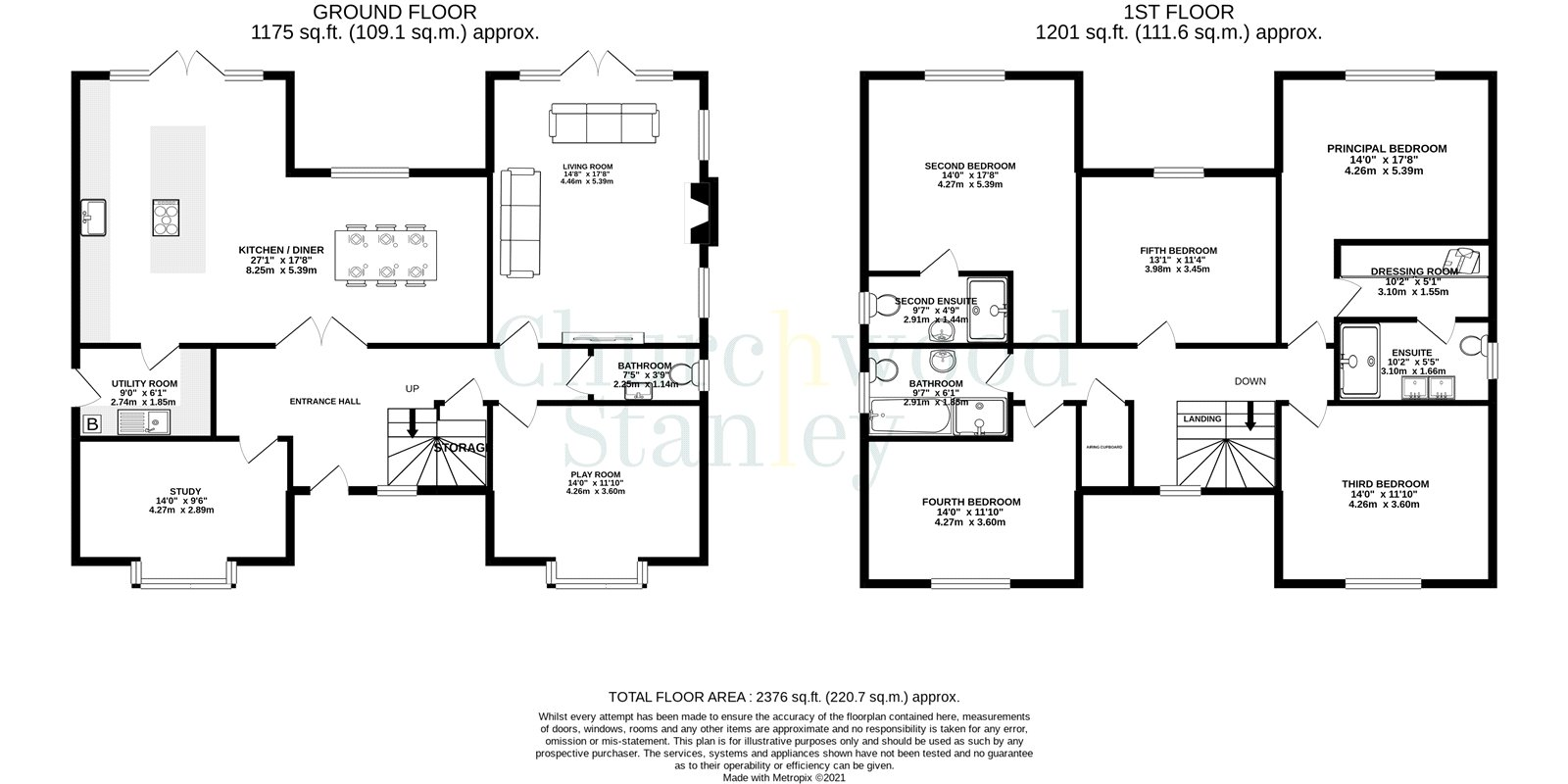 5 bed house for sale in Tendring Road, Little Bentley, Colchester - Property Floorplan