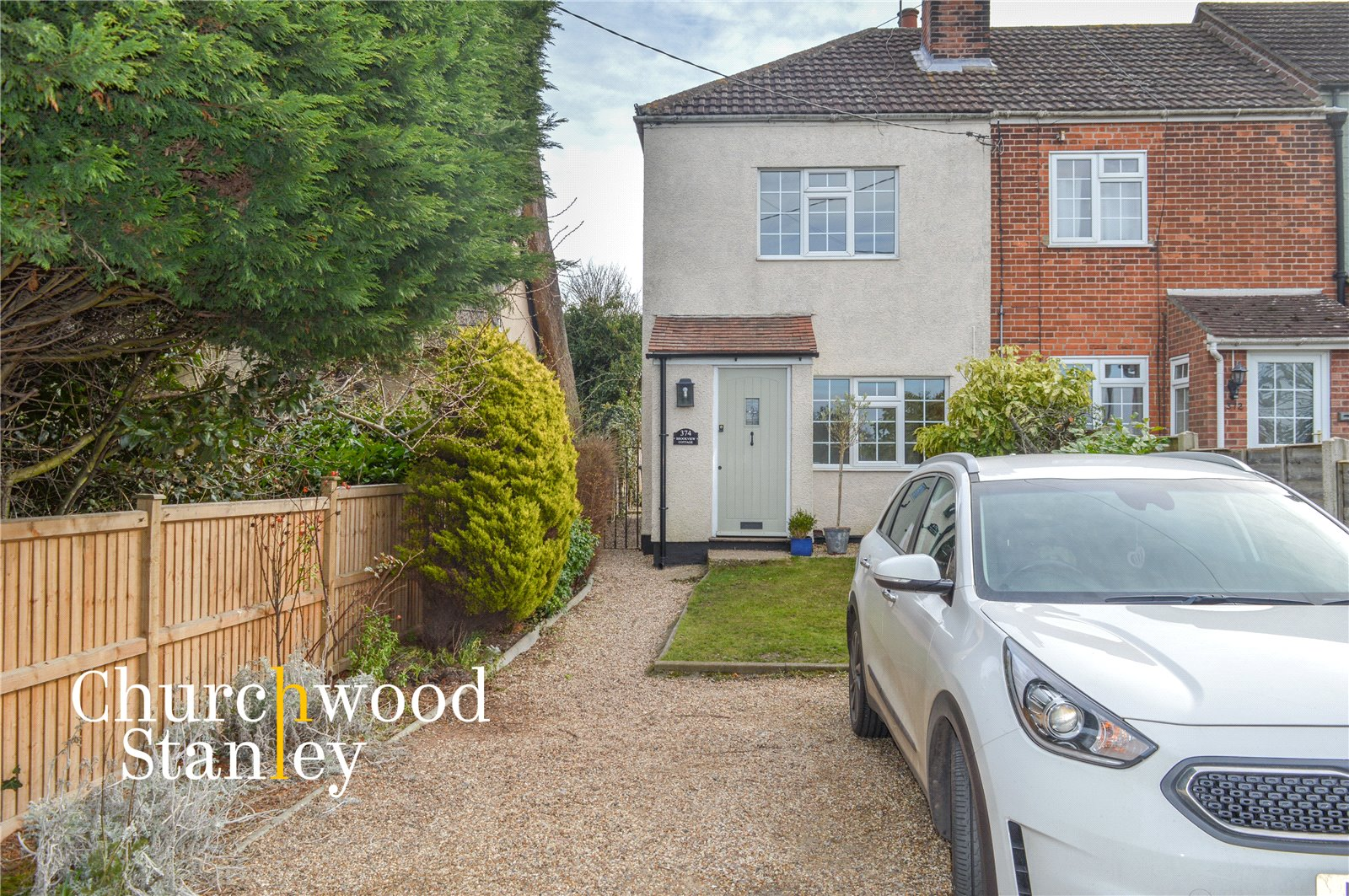 2 bed end of terrace house to rent in Harwich Road, Thorpe-le-Soken, Clacton-on-Sea, CO16