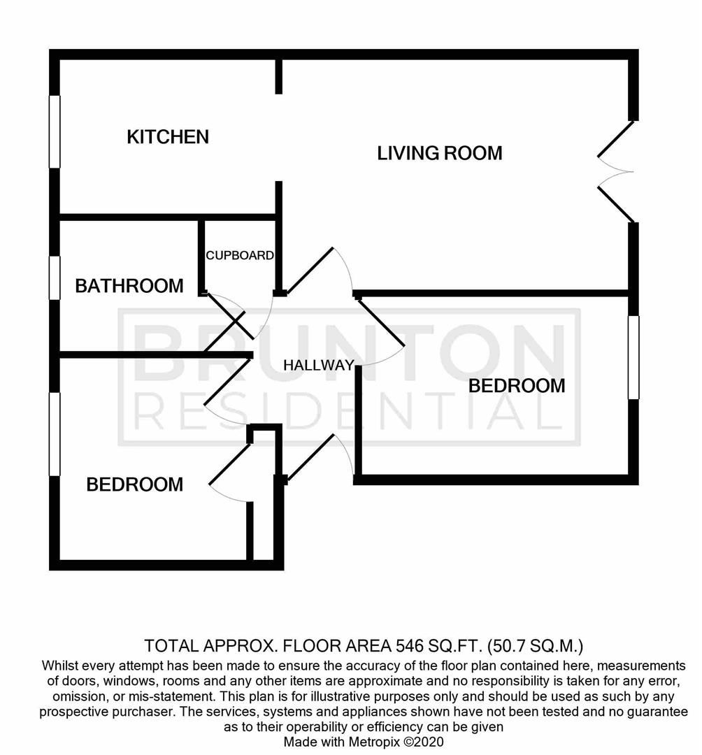 2 bed apartment for sale in Newcastle Upon Tyne, NE6 5BJ - Property Floorplan