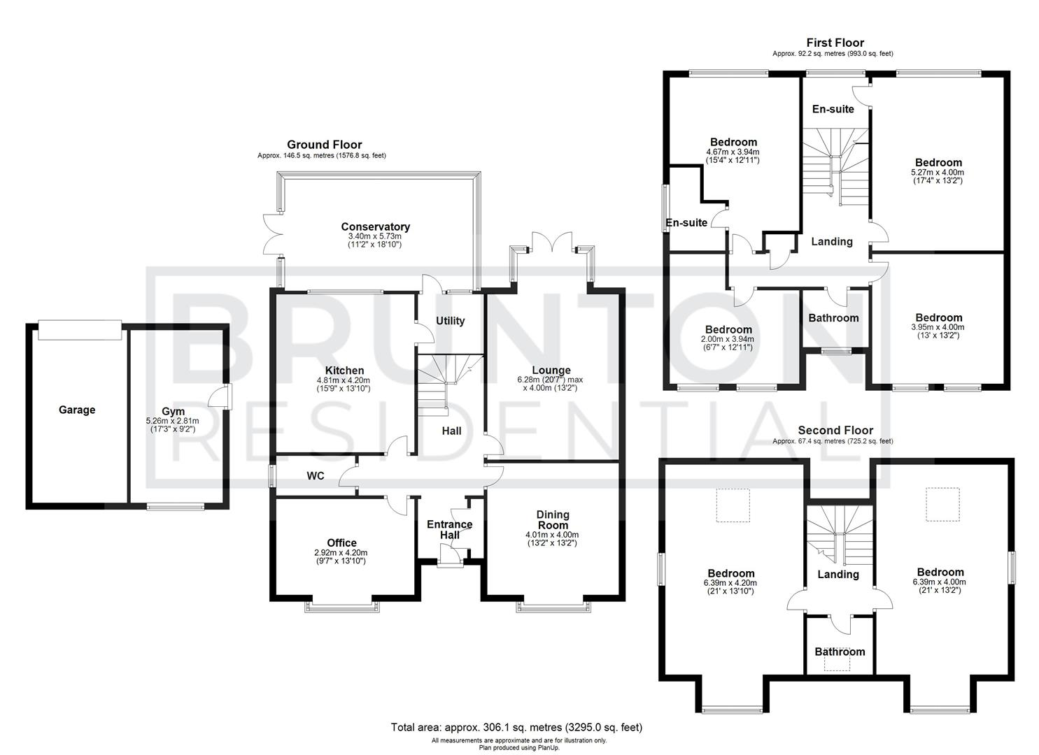6 bed detached house for sale in Abberwick Walk, Newcastle Upon Tyne - Property Floorplan
