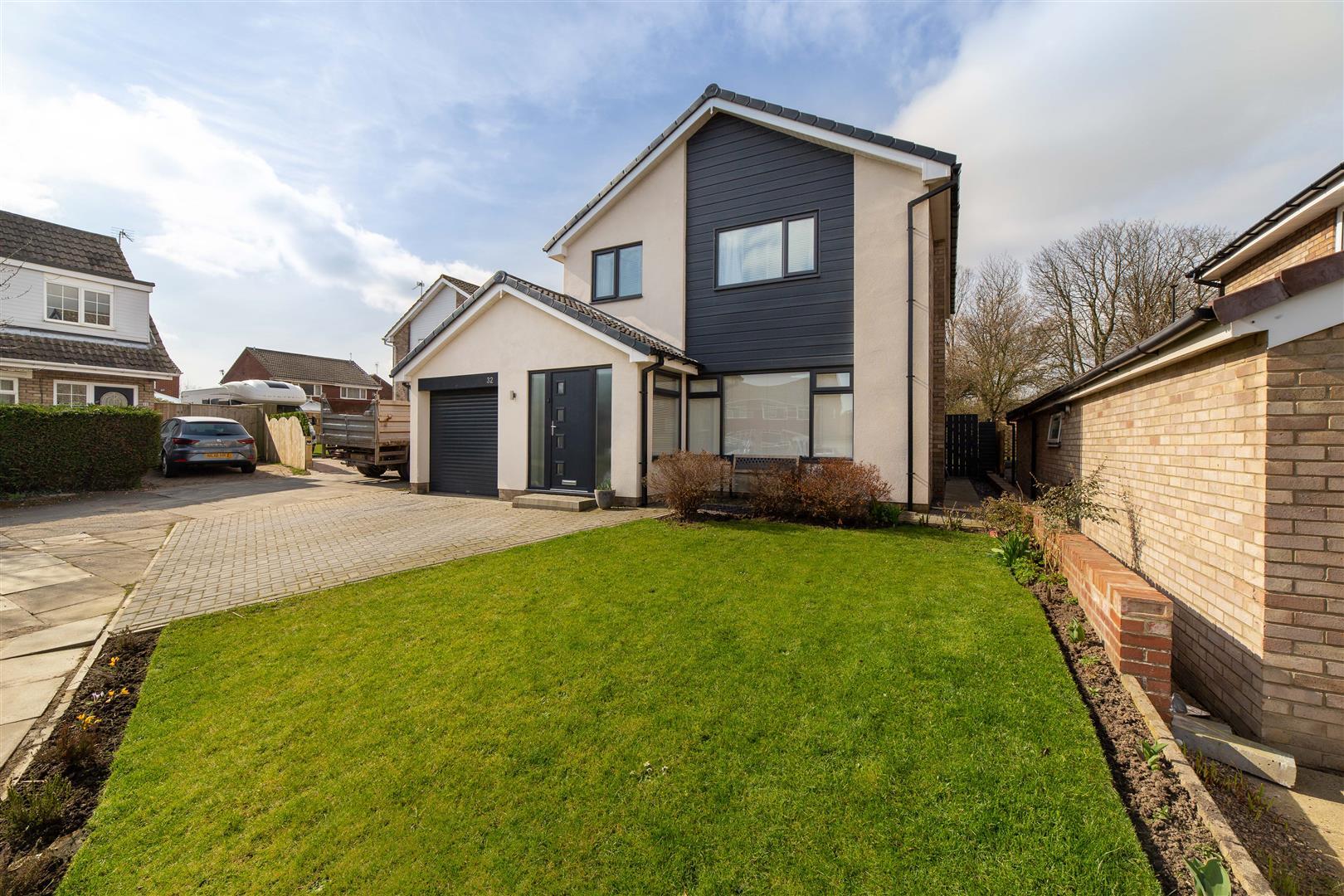 4 bed detached house for sale in Huntingdon Close, Kingston Park, NE3