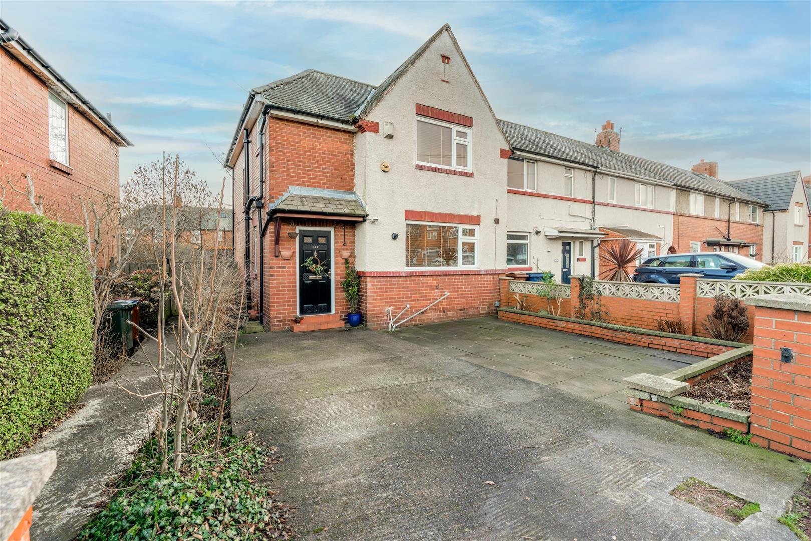3 bed semi-detached house for sale in Holystone Crescent, High Heaton  - Property Image 1
