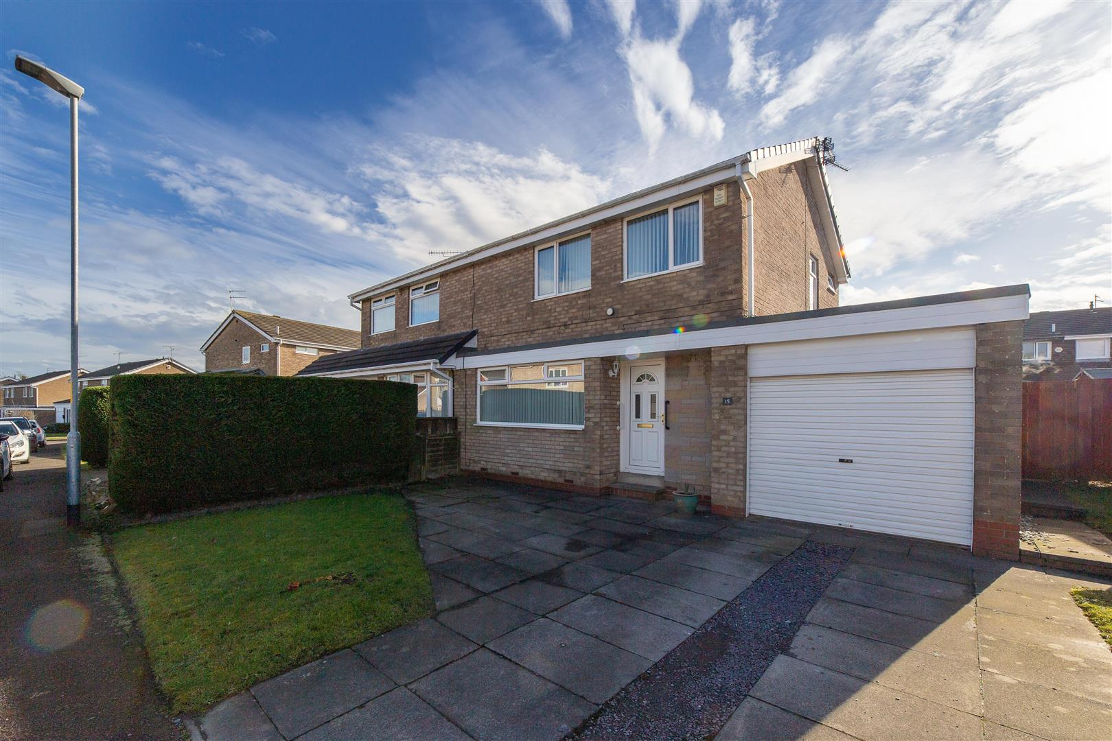 3 bed semi-detached house for sale in Cramlington, NE23 2YF, NE23