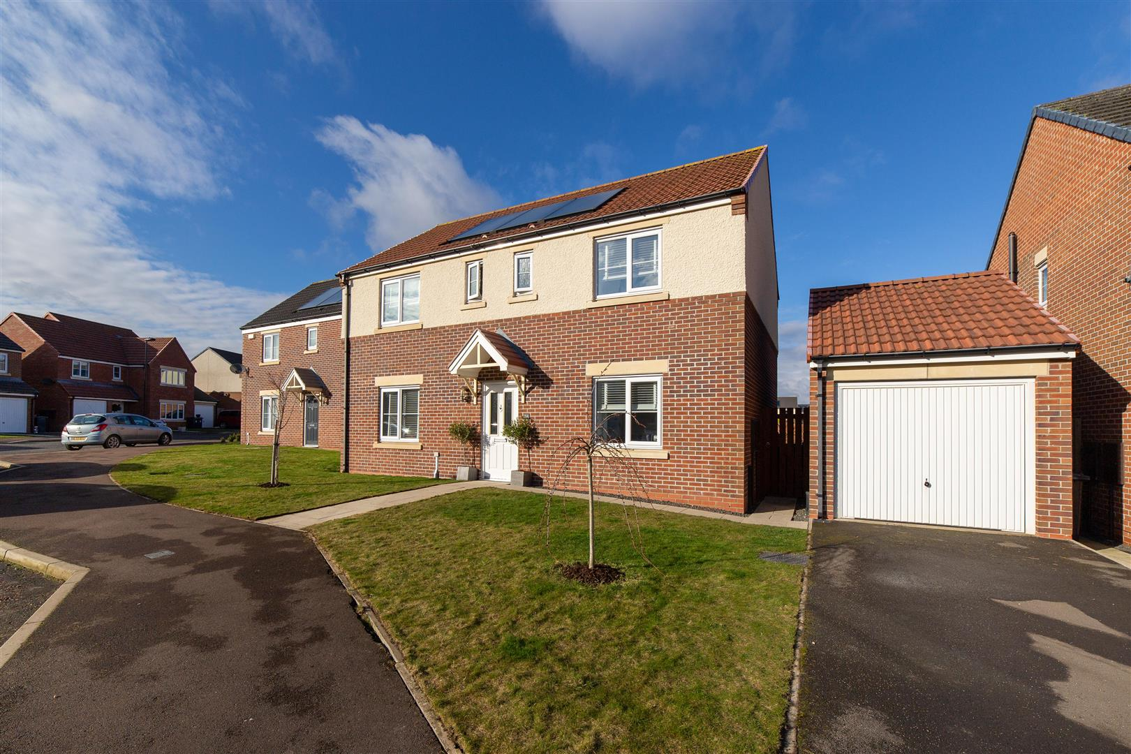 4 bed detached house for sale in Foxglove Place, Wideopen, NE13