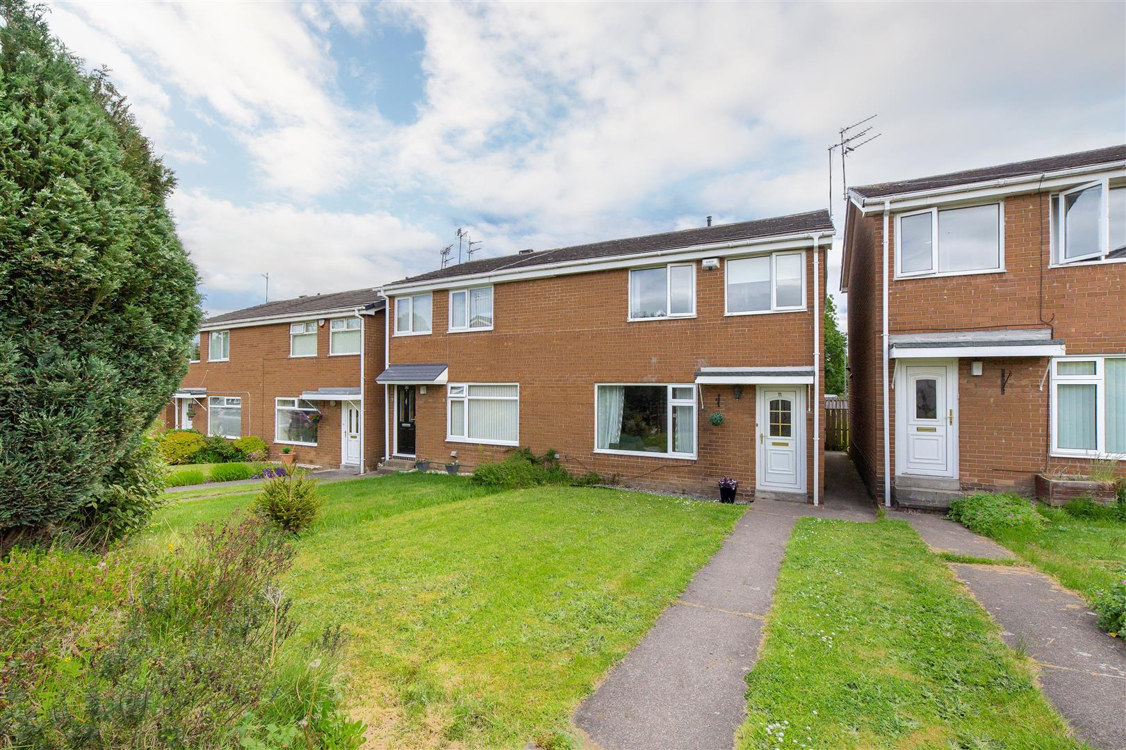 3 bed semi-detached house for sale in Cranbrook Court, Newcastle Upon Tyne - Property Image 1