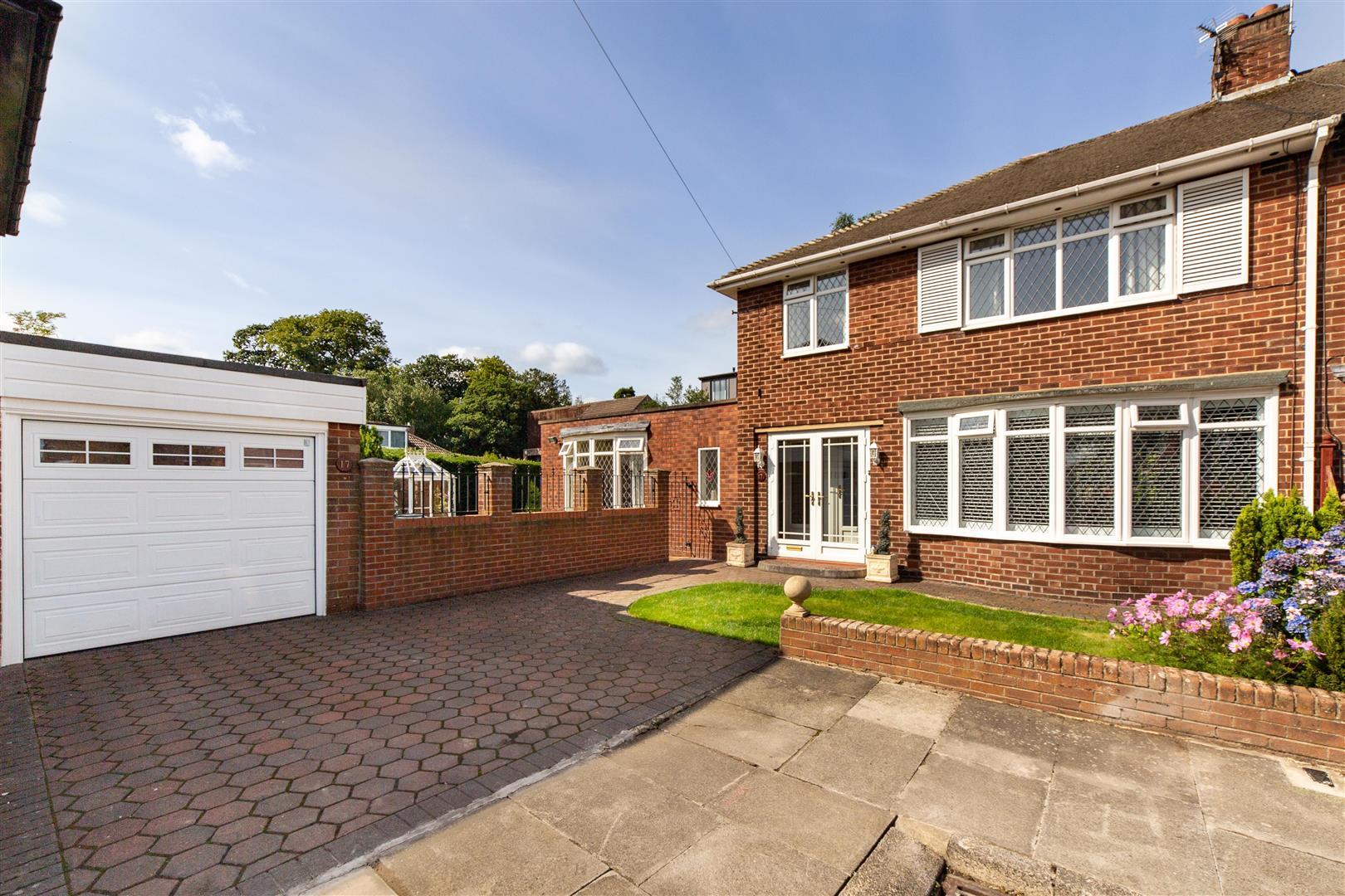3 bed semi-detached house for sale in Kilnshaw Place, Melton Park, NE3