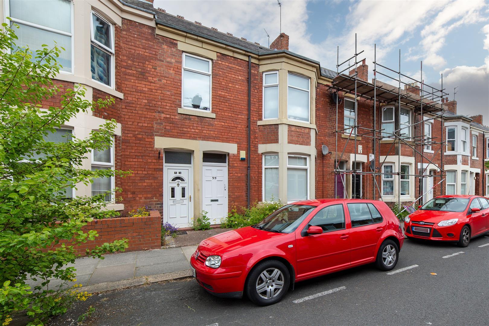 3 bed flat for sale in King John Terrace, Heaton, NE6