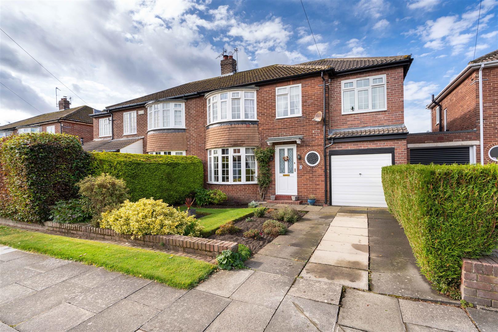 3 bed semi-detached house for sale in Beverley Close, Brunton Park, NE3