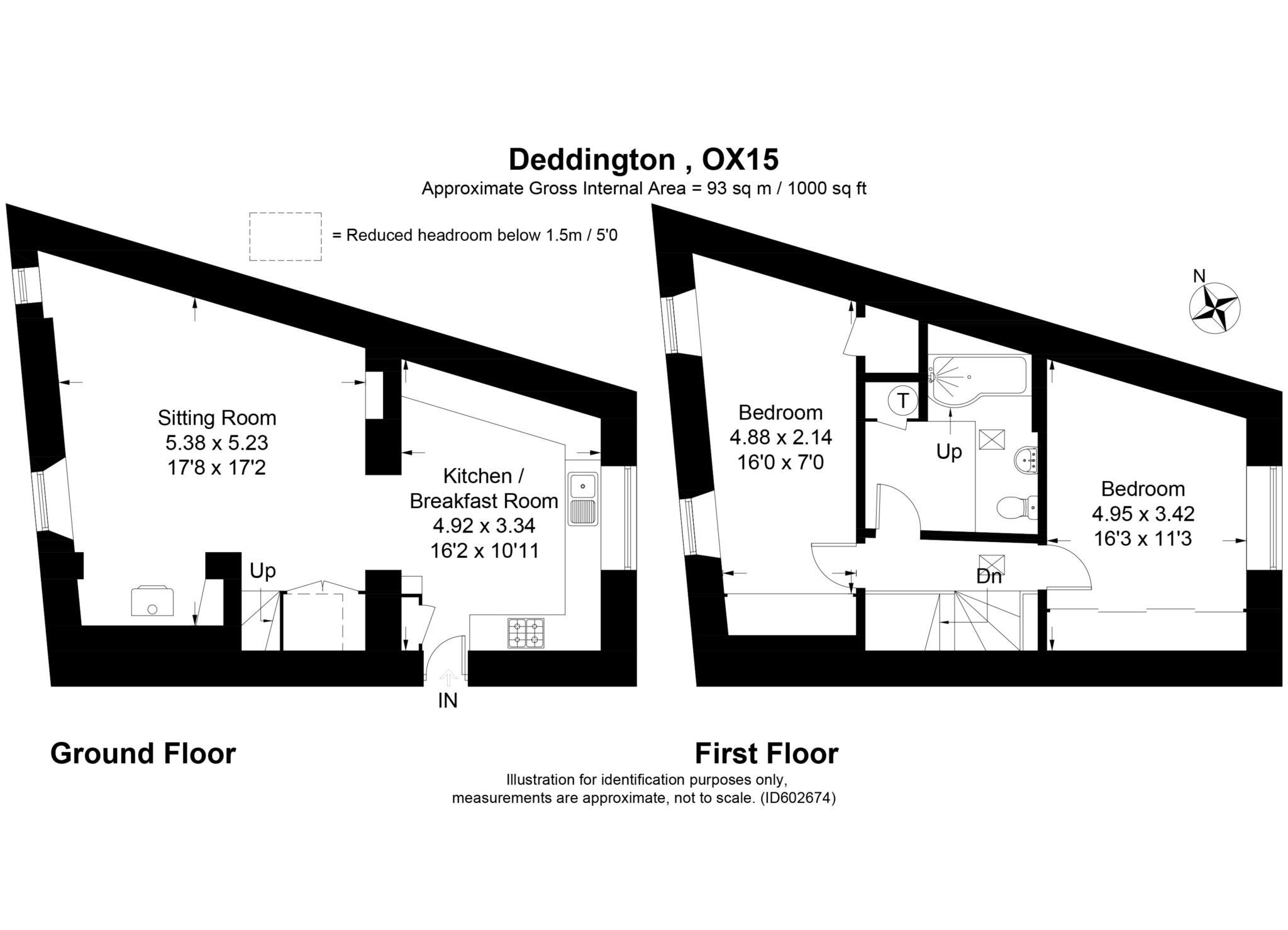 2 bed cottage to rent in Thimble Cottage, Market Place, Deddington, Banbury - Property Floorplan