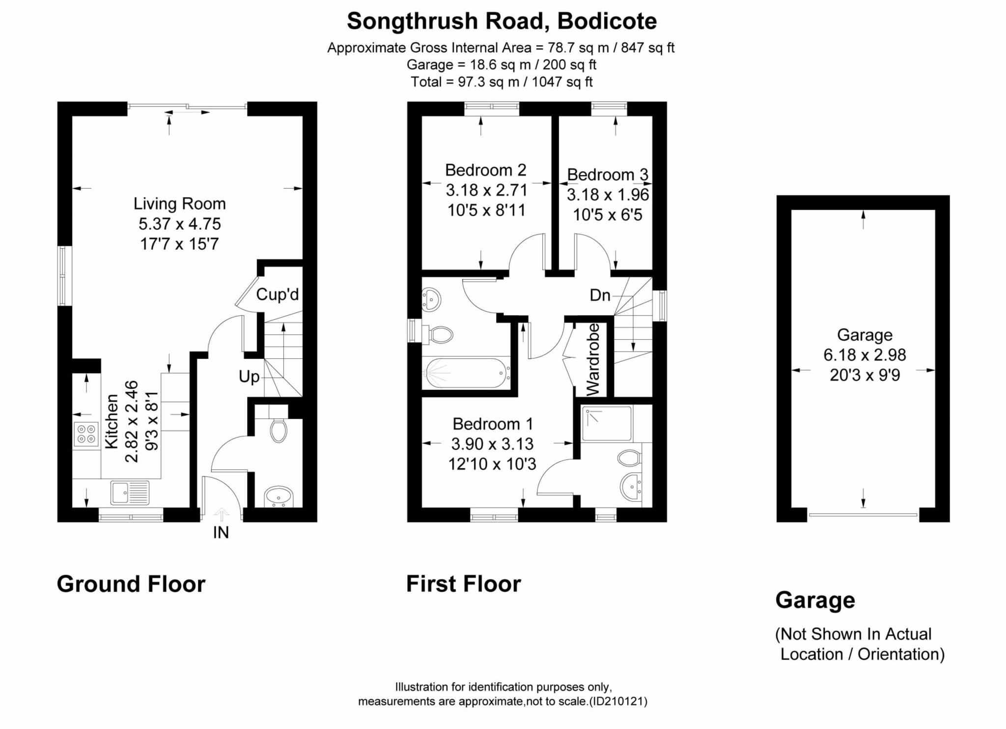 3 bed semi-detached house to rent in Songthrush Road, Longford Park, Banbury - Property Floorplan