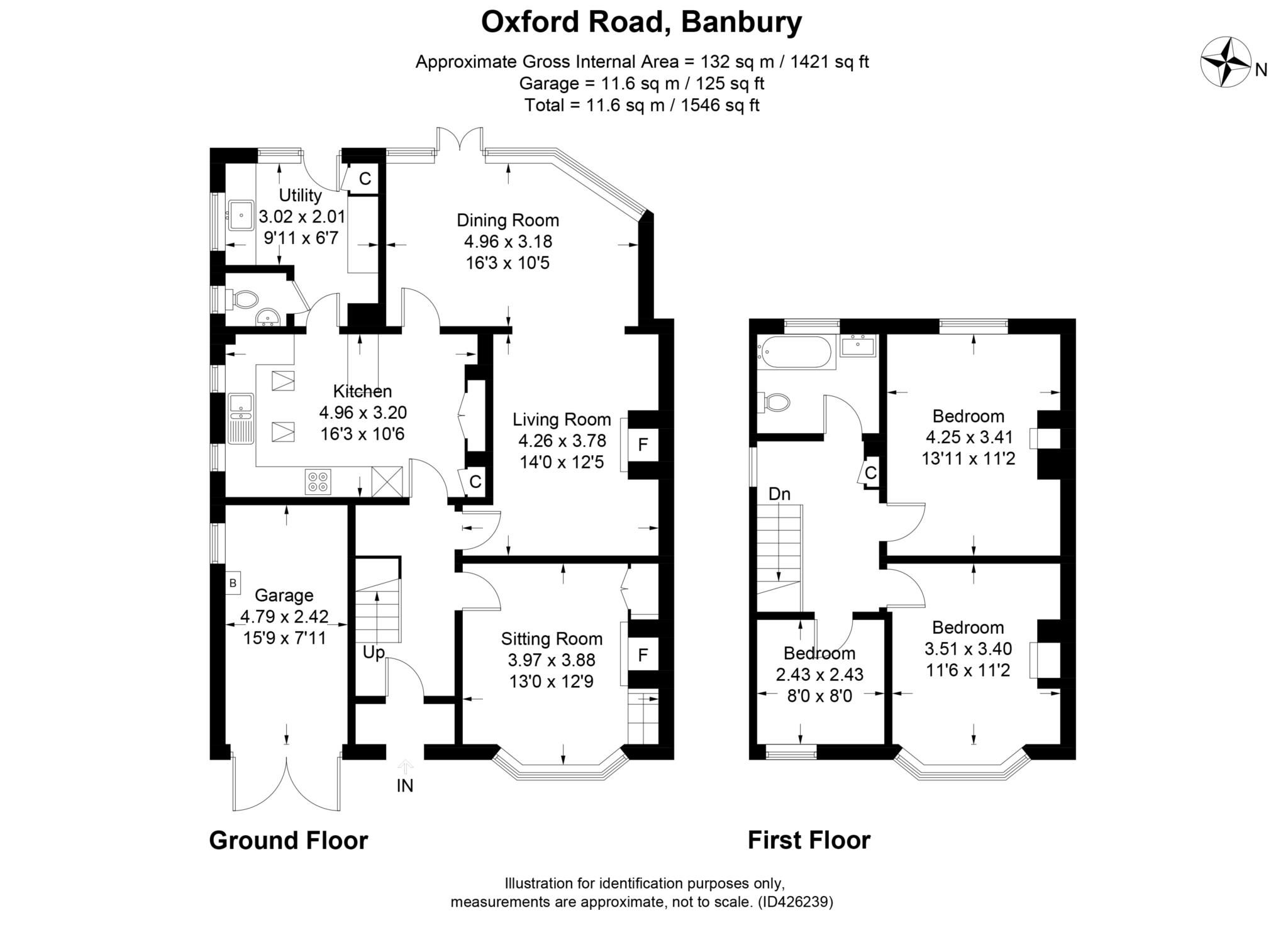 3 bed semi-detached house to rent in Oxford Road, Banbury - Property Floorplan