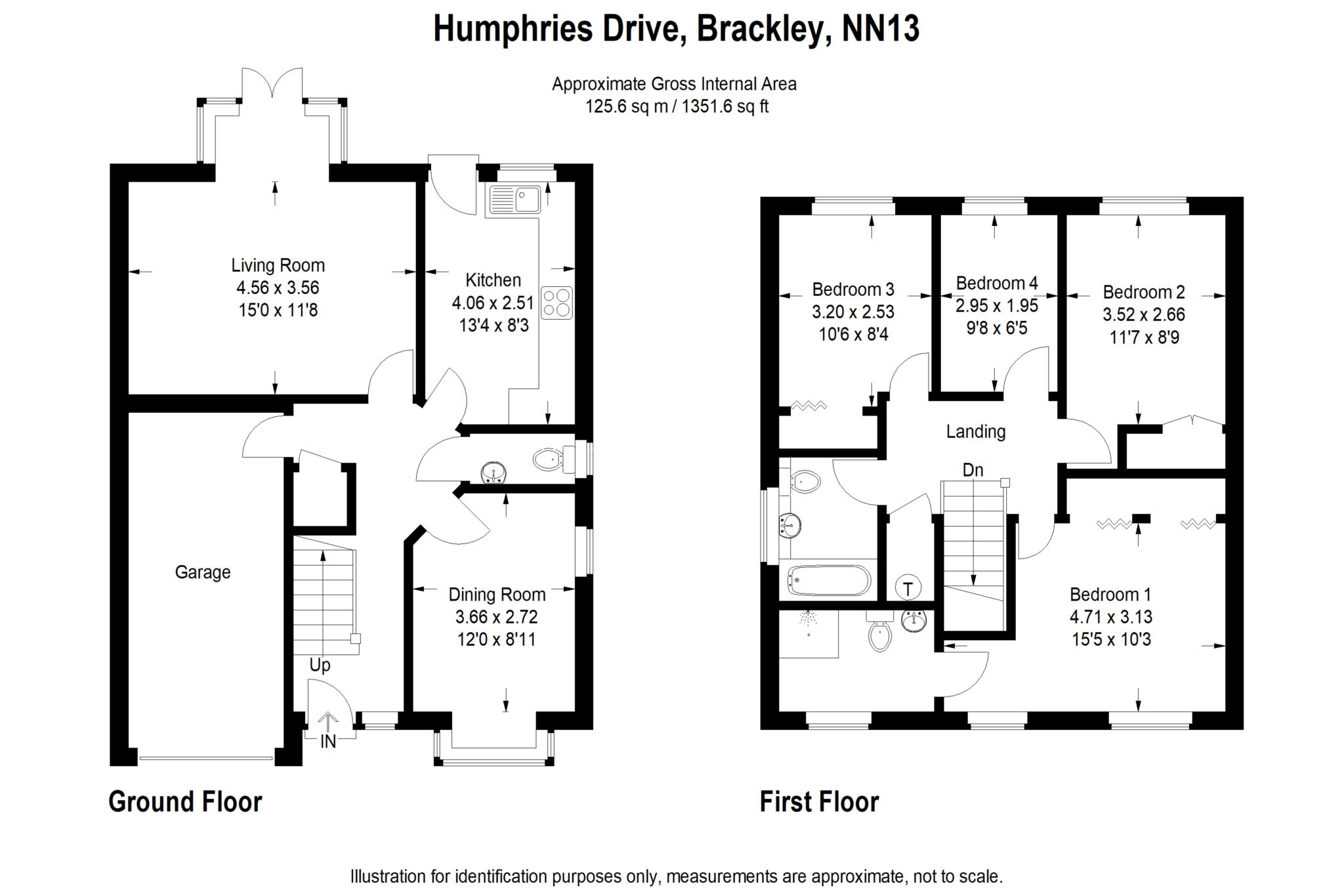 4 bed detached house to rent in Humphries Drive, Brackley, NN13 - Property Floorplan