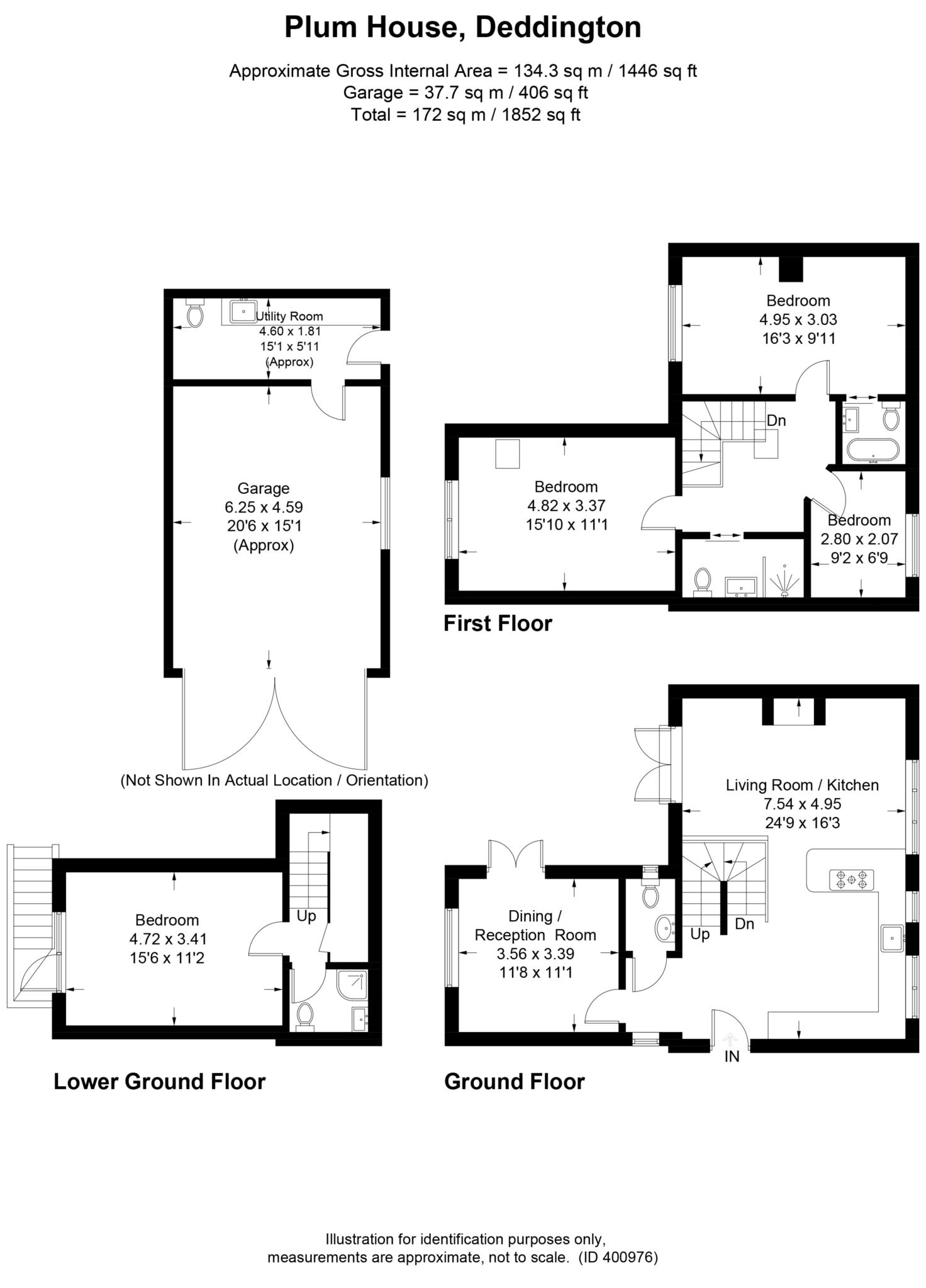 4 bed detached house to rent in Plum House, Tays Gateway, Deddington, Banbury - Property Floorplan