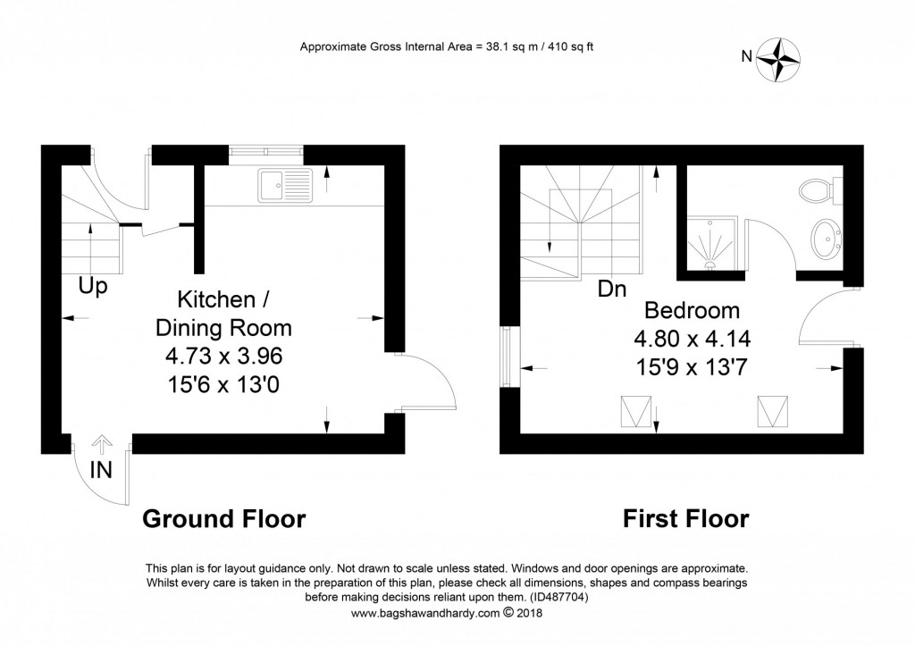 1 bed cottage to rent in Holmwood Farm Court Horsham Road,  Dorking, RH5 - Property Floorplan