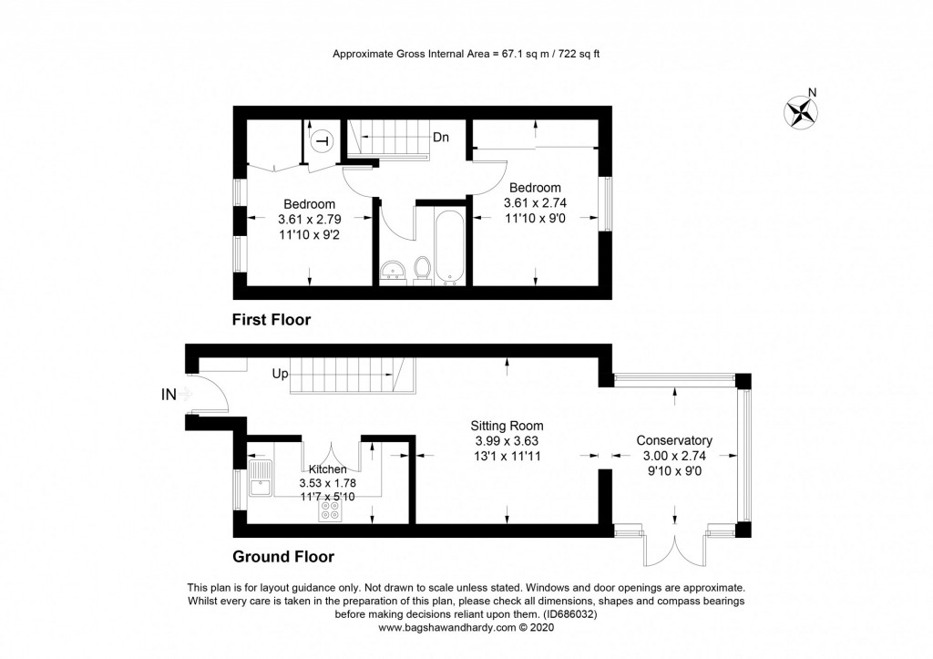 2 bed terraced house for sale in  Nursery Close,  Dorking, RH5 - Property Floorplan