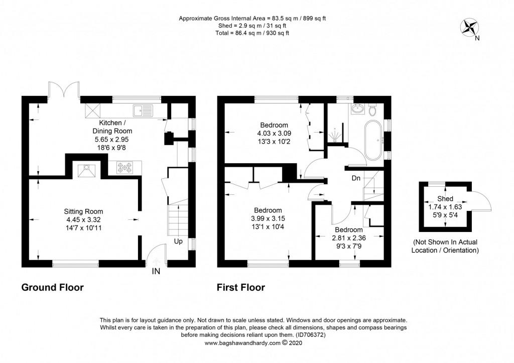 3 bed semi-detached house for sale in  Bennetts Wood,  Dorking, RH5 - Property Floorplan