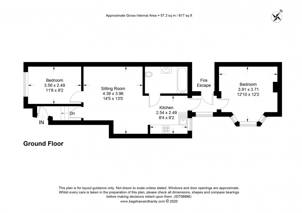 2 bed apartment to rent in  Falkland Road,  Dorking, RH4 - Property Floorplan