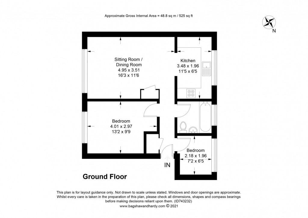 2 bed apartment for sale in  Holmesdale Road,  Dorking, RH5 - Property Floorplan