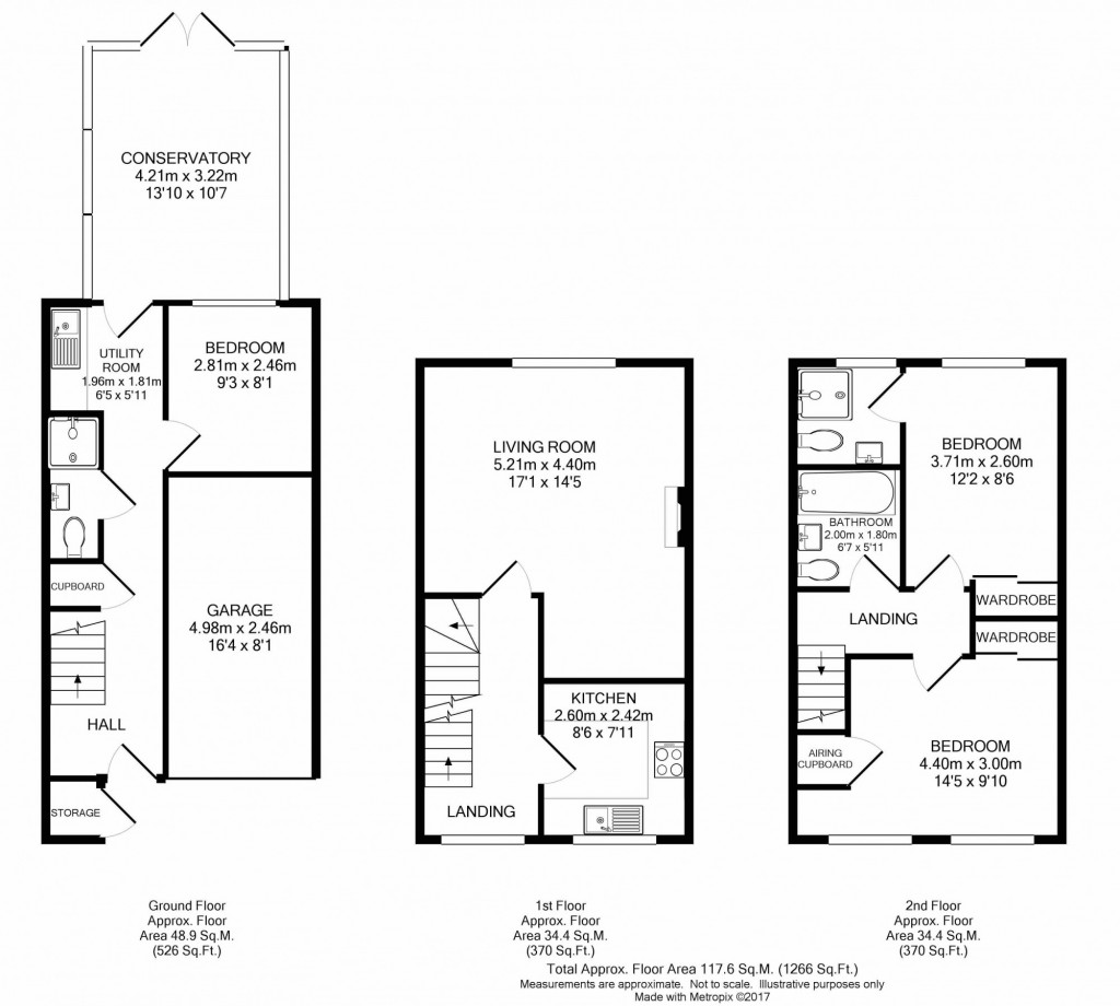 3 bed town house to rent in  Grosvenor Mews, Prices Lane,, Reigate, RH2 - Property Floorplan