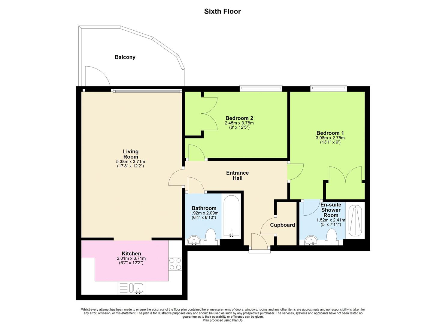 2 bed apartment for sale in Watkiss Way, Cardiff - Property Floorplan