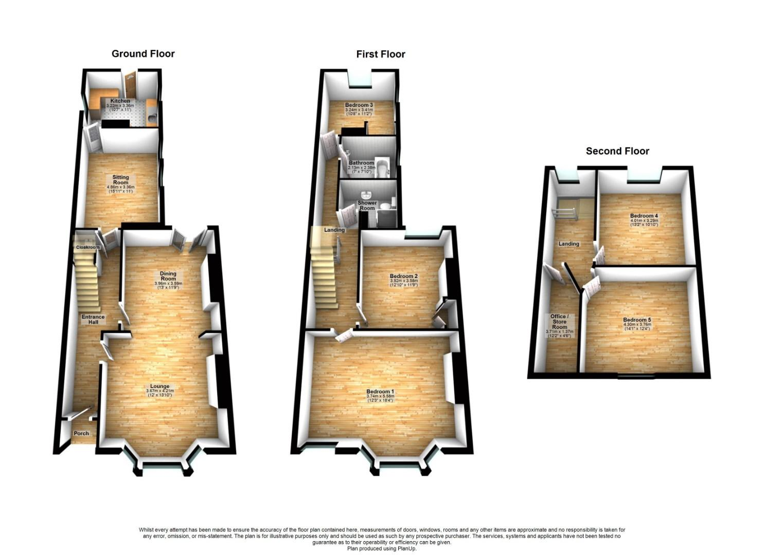 5 bed end of terrace house for sale in Claude Road, Cardiff - Property Floorplan
