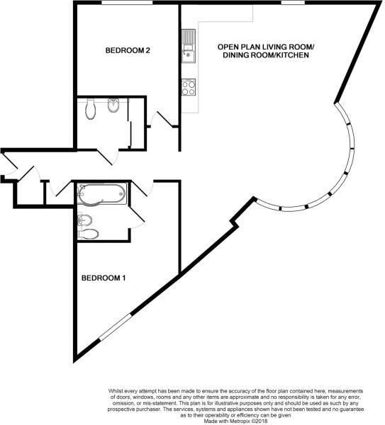 2 bed apartment for sale in Atlantic Wharf, Cardiff - Property Floorplan