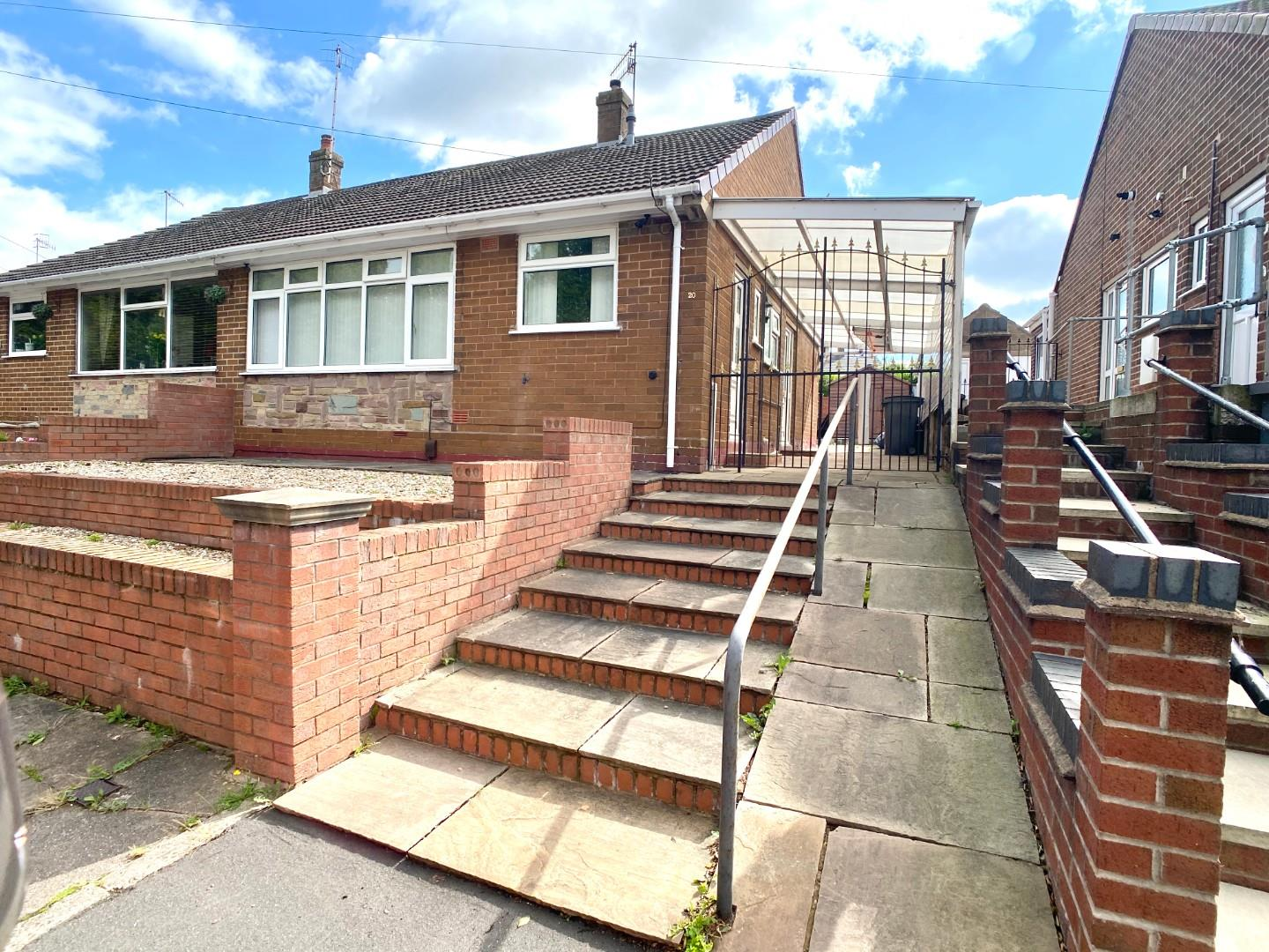 2 bed semi-detached bungalow for sale in Danehill Grove, Staffordshire - Property Image 1