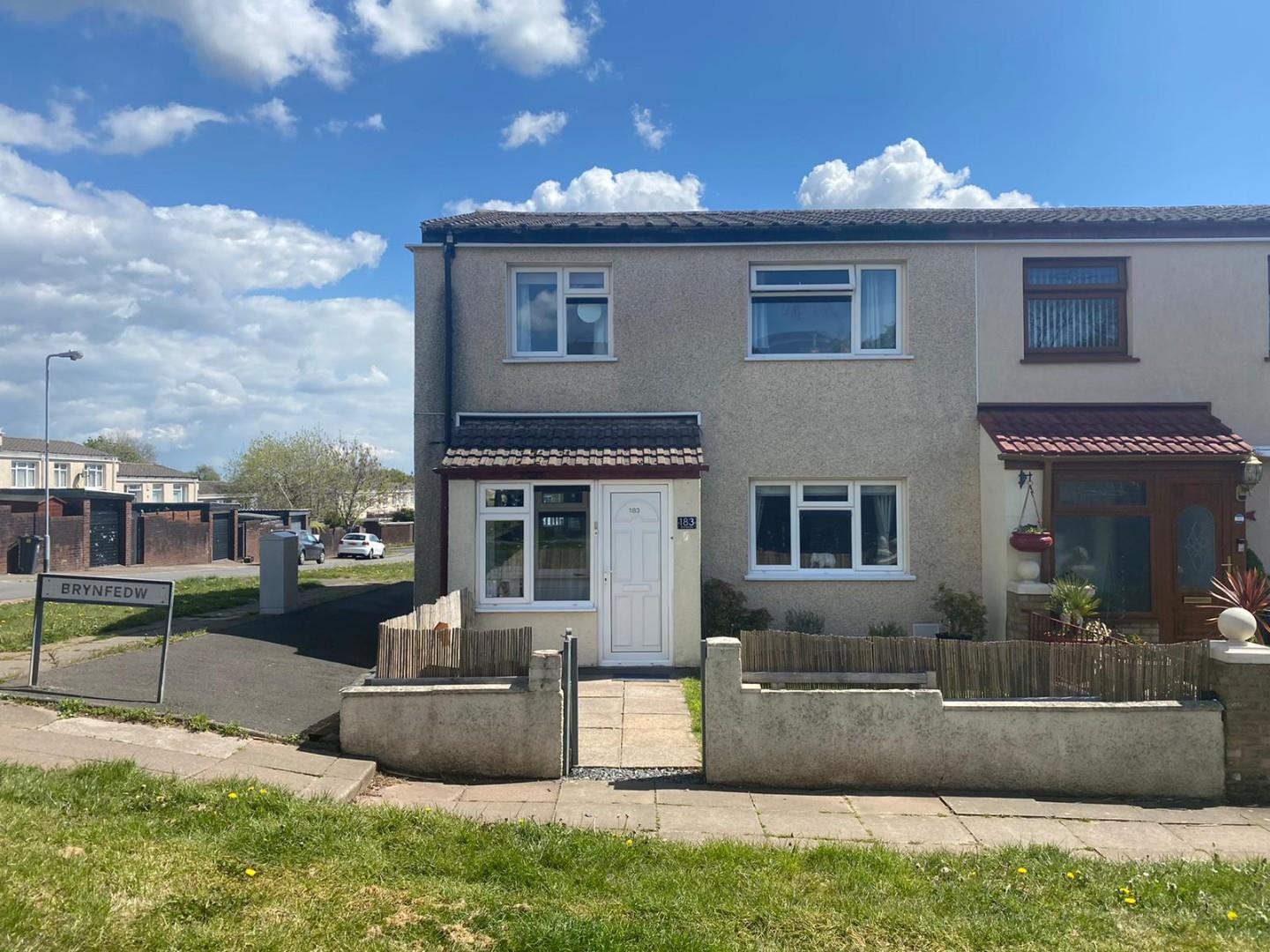3 bed end of terrace house for sale in Brynfedw, Cardiff, CF23