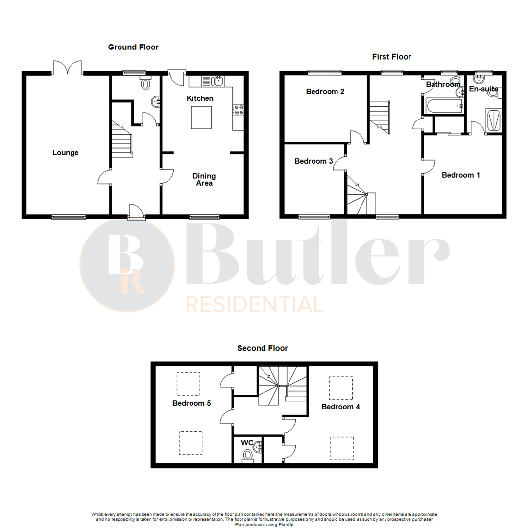 5 bed terraced house for sale in Green Lane, Bedford - Property Floorplan