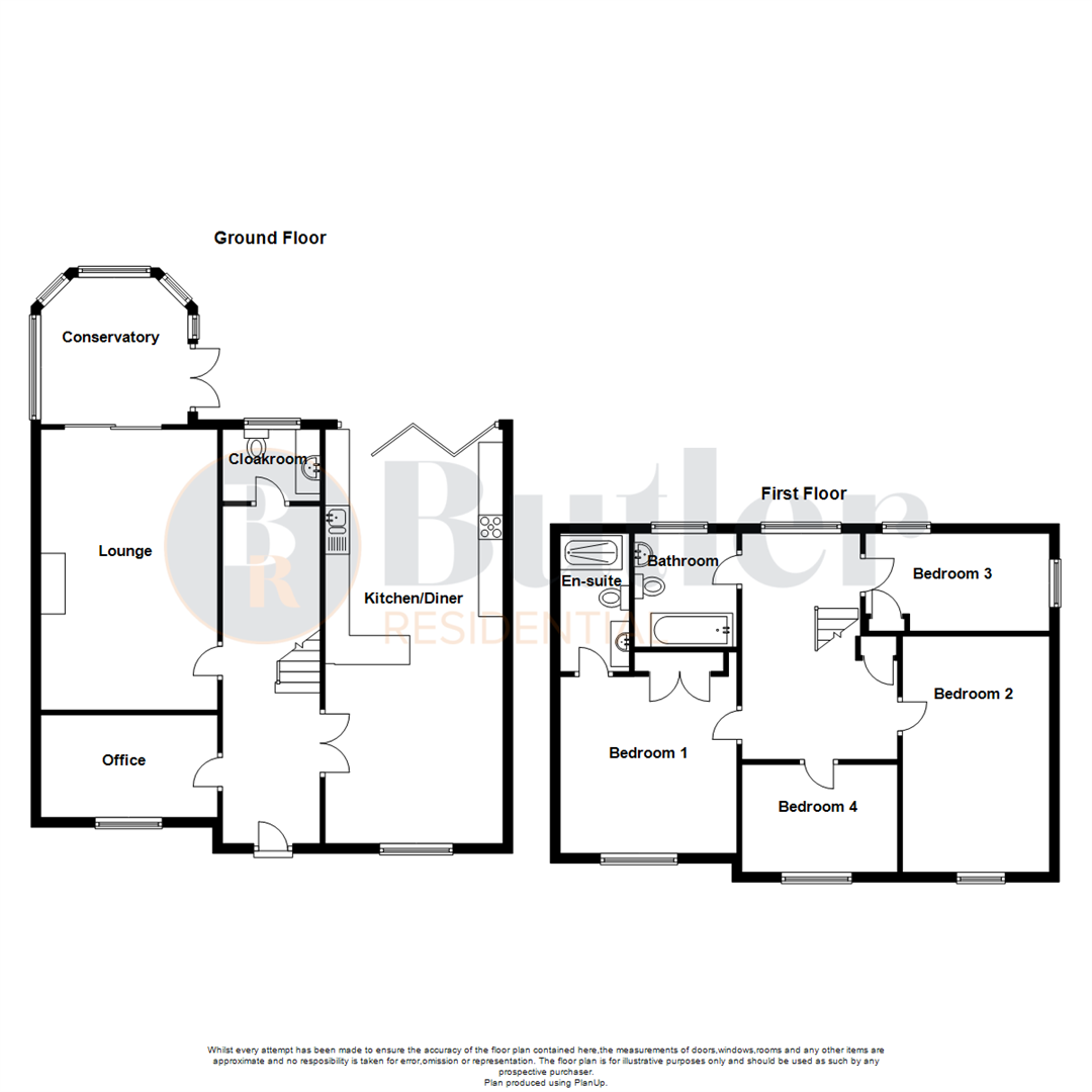 4 bed detached house for sale in Wren Terrace, Bedford - Property Floorplan