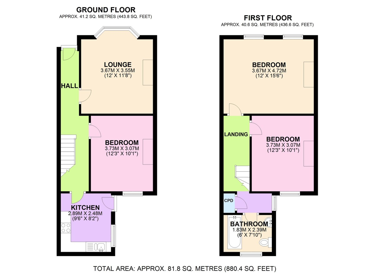 2 bed house for sale in Courthill Road, Lewisham - Property Floorplan