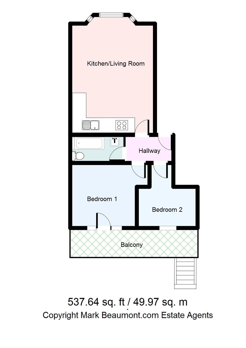 2 bed flat to rent in New Cross Road, New Cross - Property Floorplan