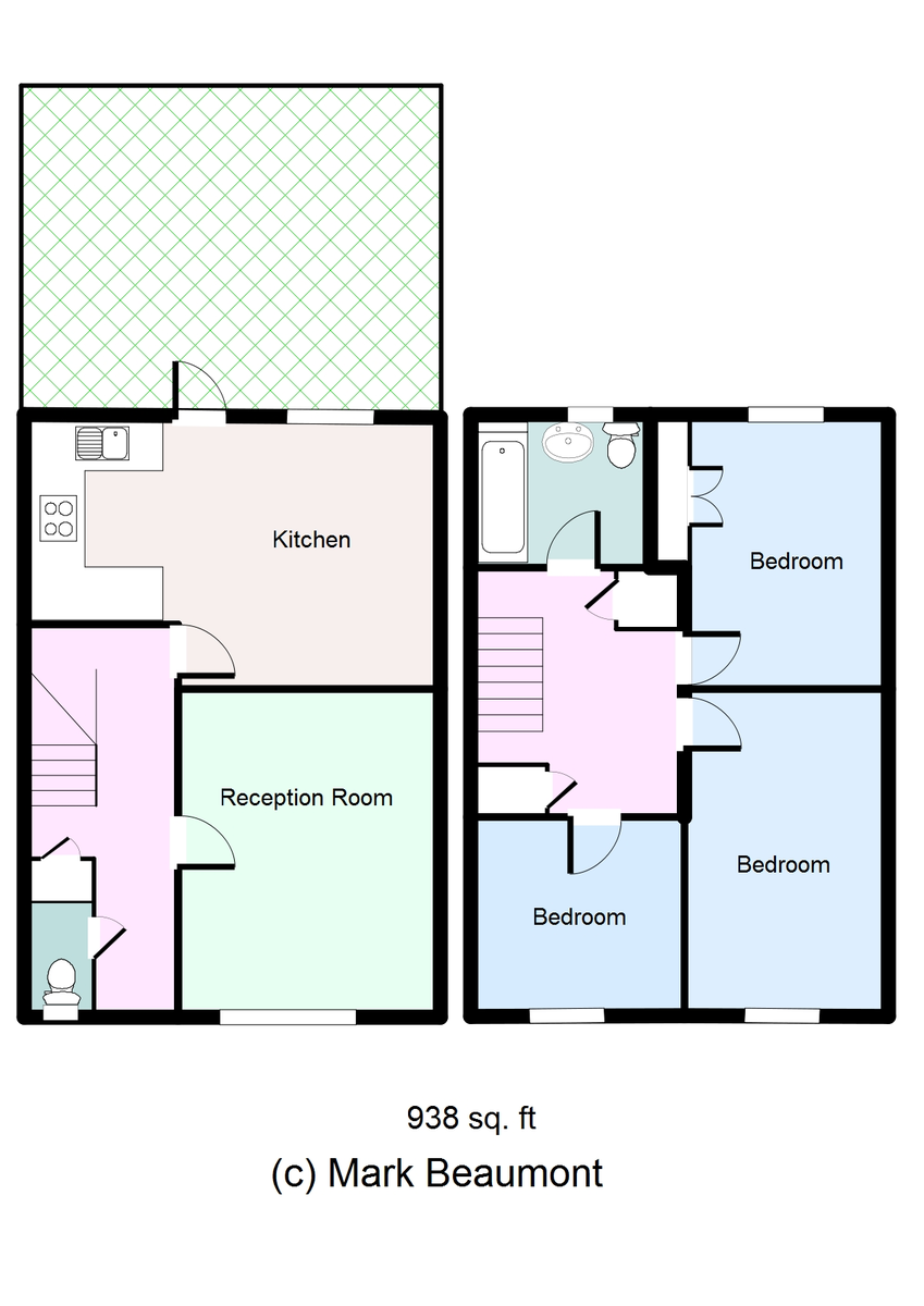 3 bed terraced house for sale in Melrose Close, London - Property Floorplan