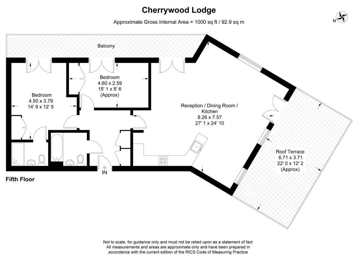 2 bed flat for sale in Birdwood Avenue, Hither Green - Property Floorplan