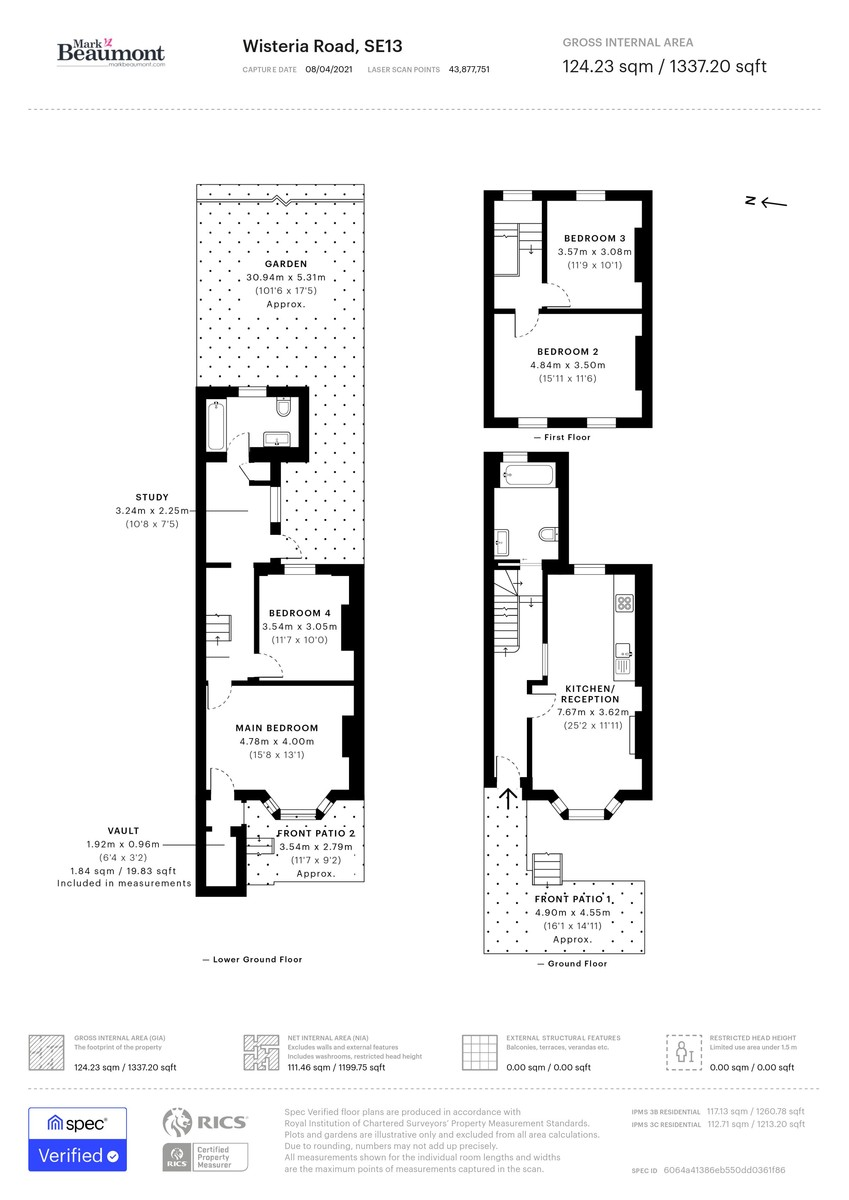 4 bed terraced house for sale in Wisteria Road, London - Property Floorplan