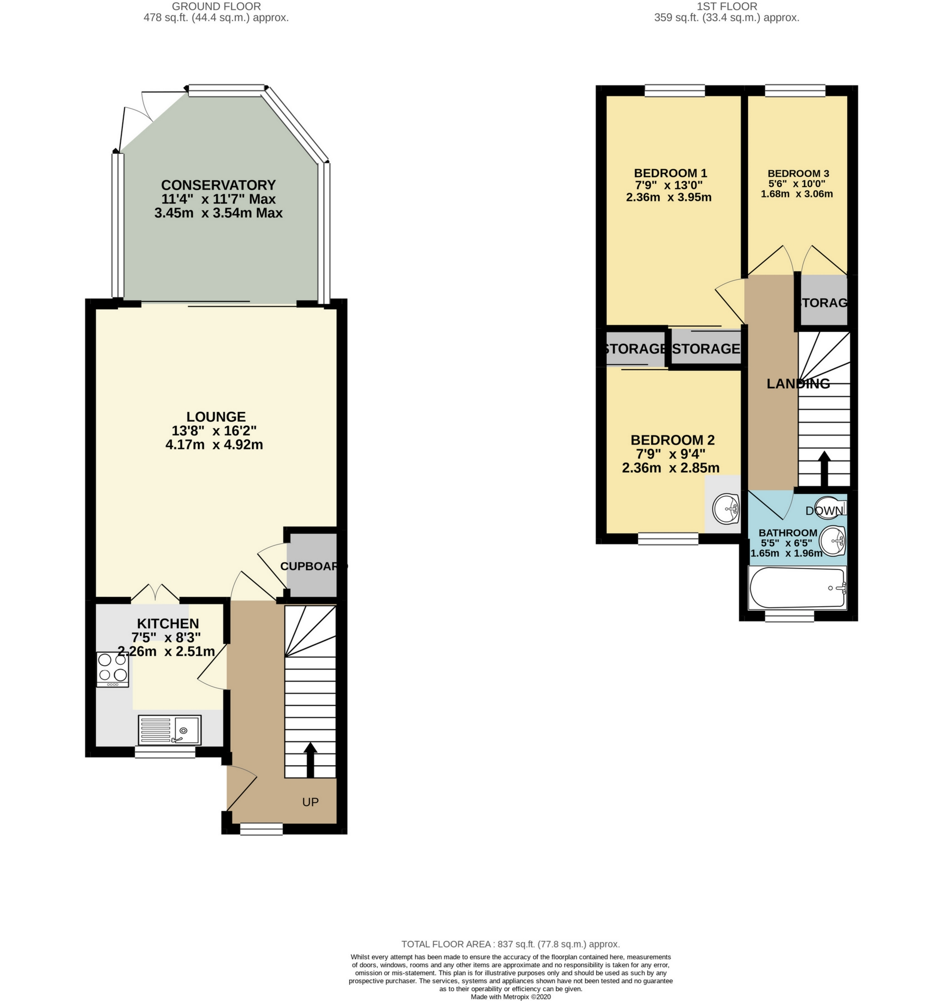 3 bed house to rent in Beach Avenue, Birchington, CT7 - Property Floorplan