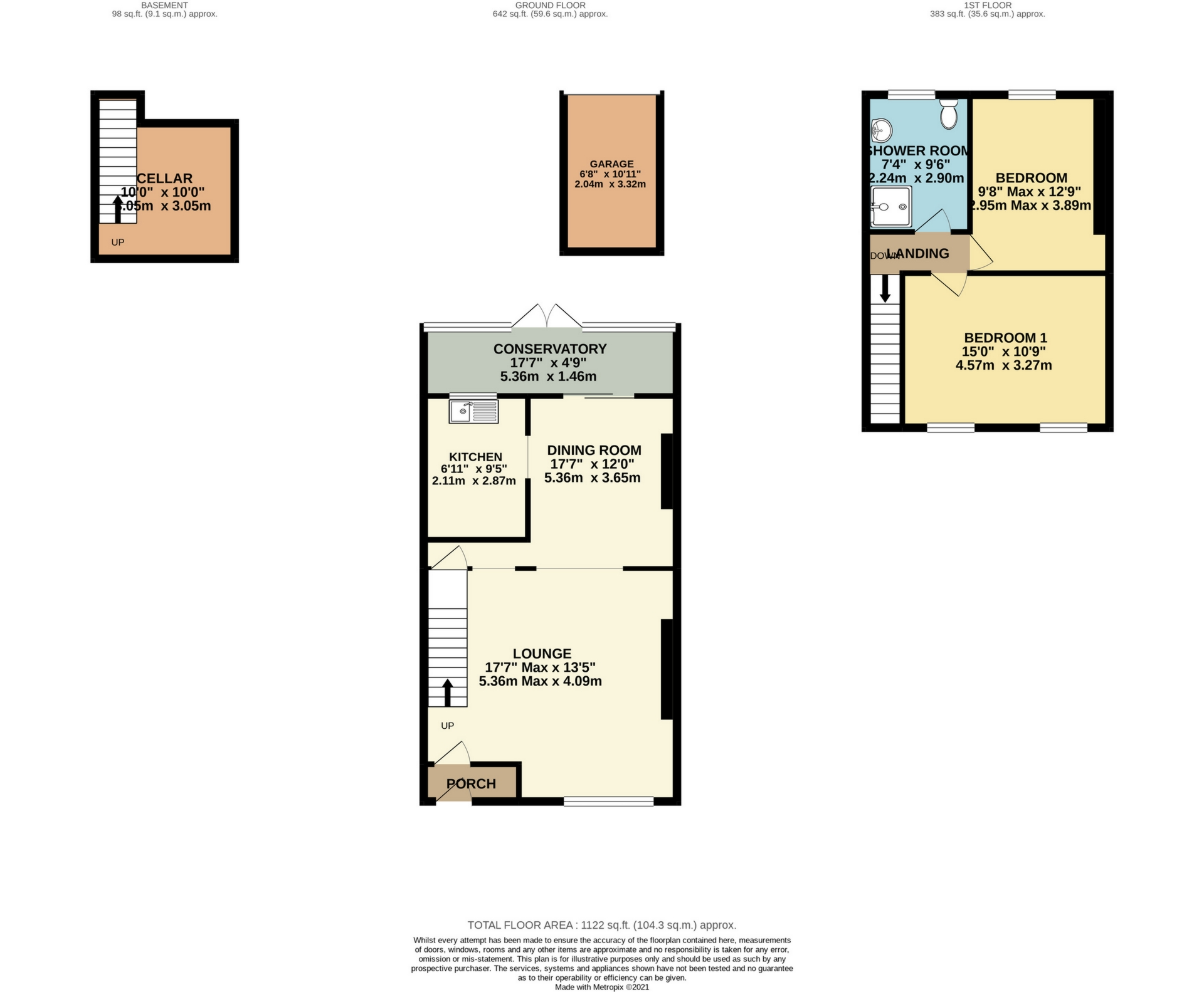 2 bed house for sale in Gordon Square, Birchington, CT7 - Property Floorplan