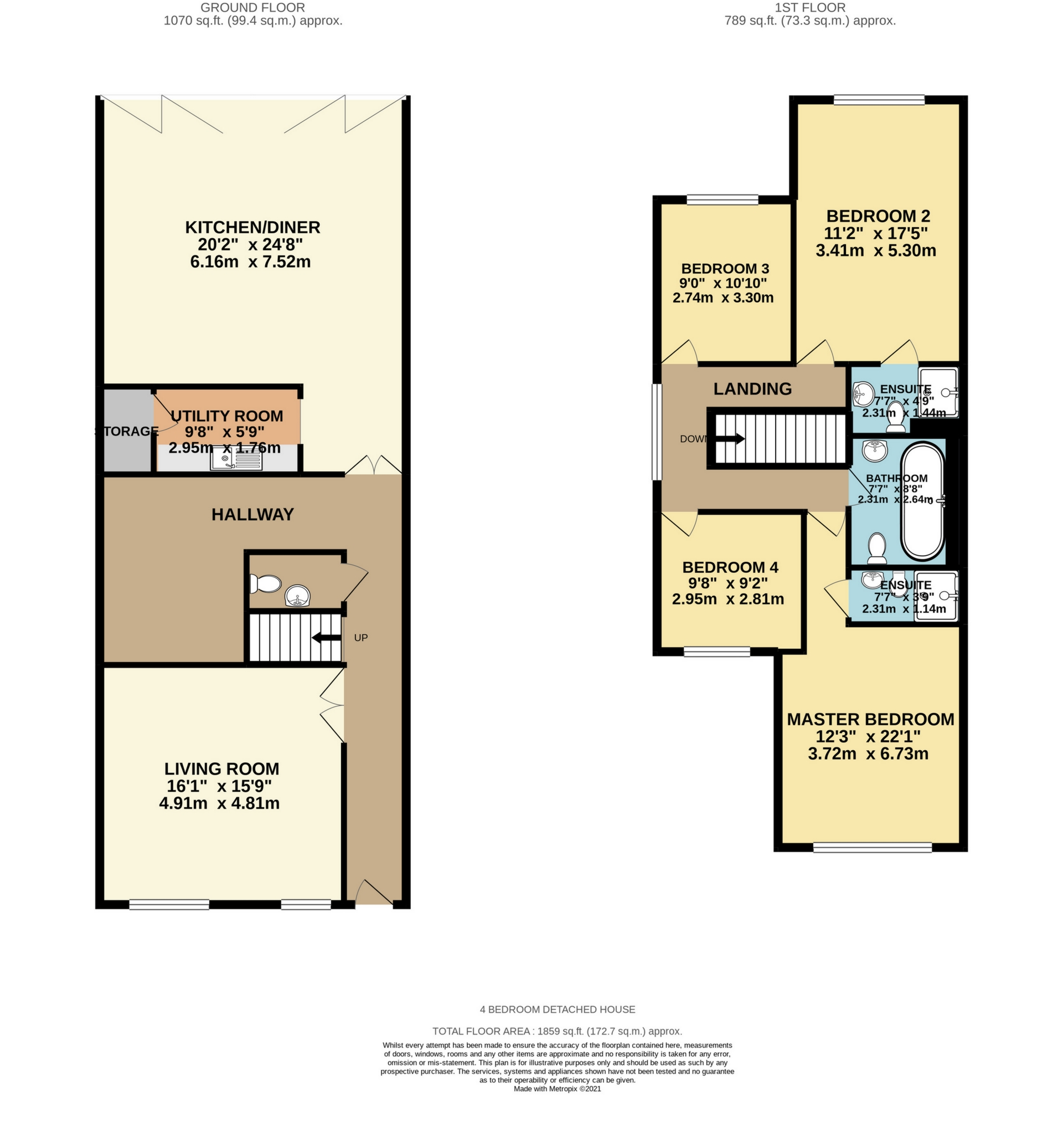4 bed detached house for sale in Gladstone Road, Broadstairs, CT10 - Property Floorplan
