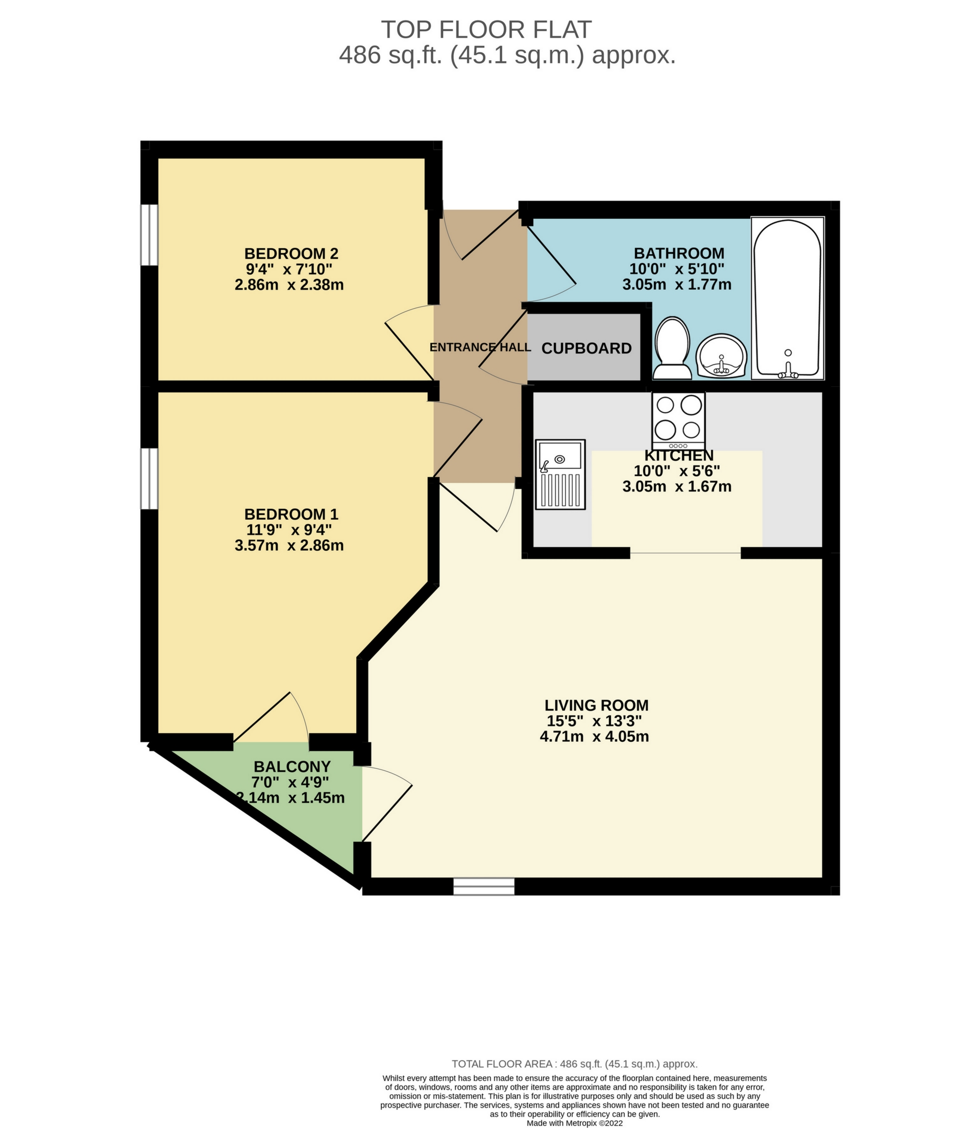 2 bed flat to rent in Victoria Road, Ramsgate, CT11 - Property Floorplan
