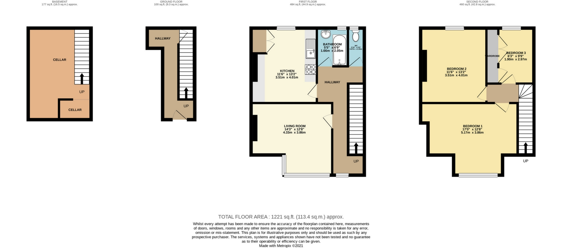 3 bed flat to rent in Station Approach, Birchington - Property Floorplan