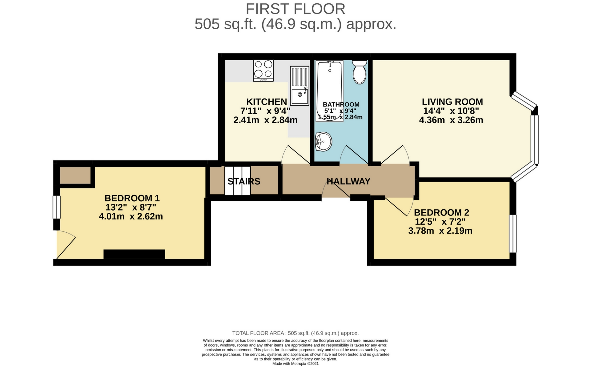2 bed flat to rent in Sweyn Road, Cliftonville - Property Floorplan