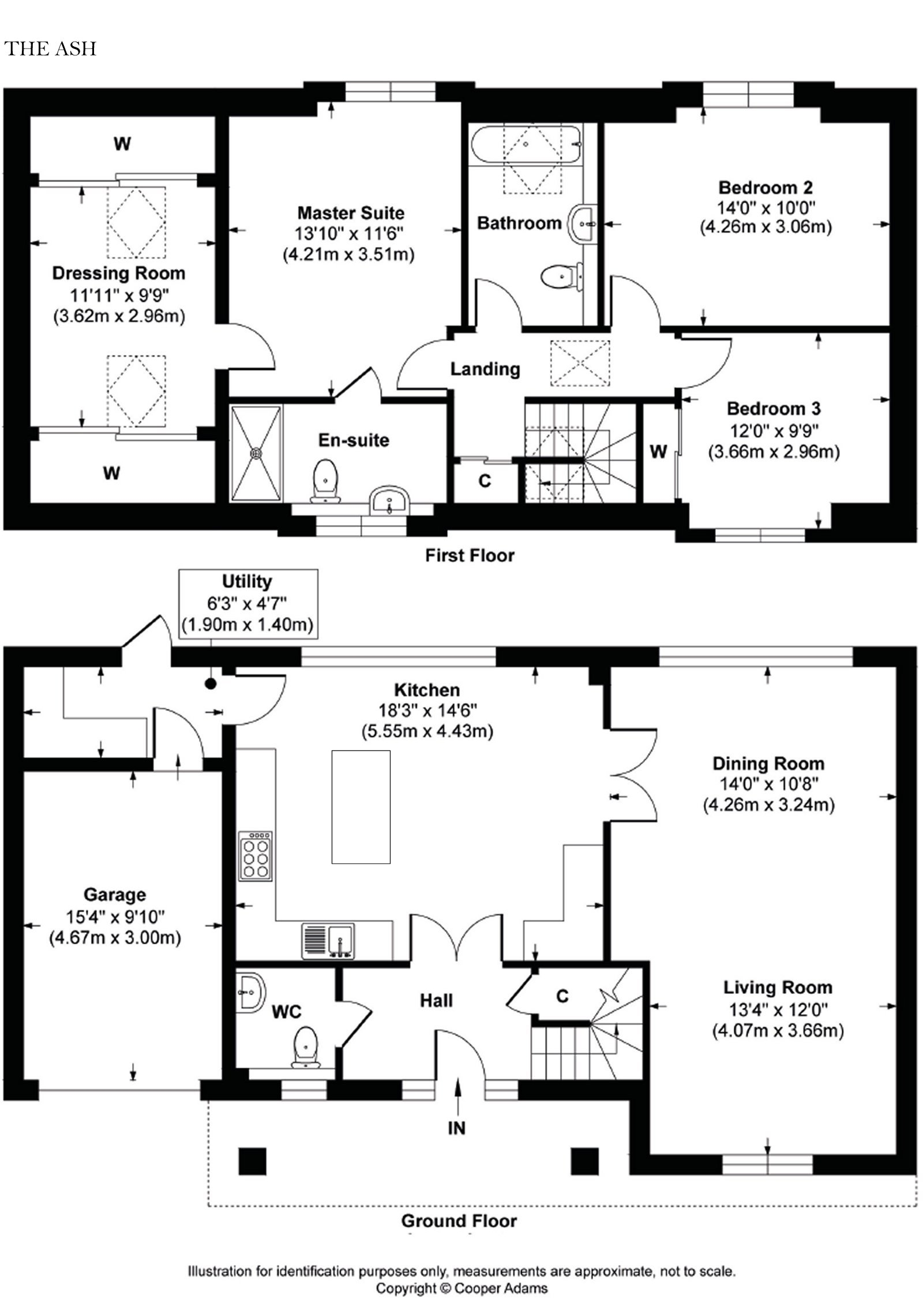 3 bed house for sale in Swallows Gate, Dappers Lane, Angmering - Property Floorplan