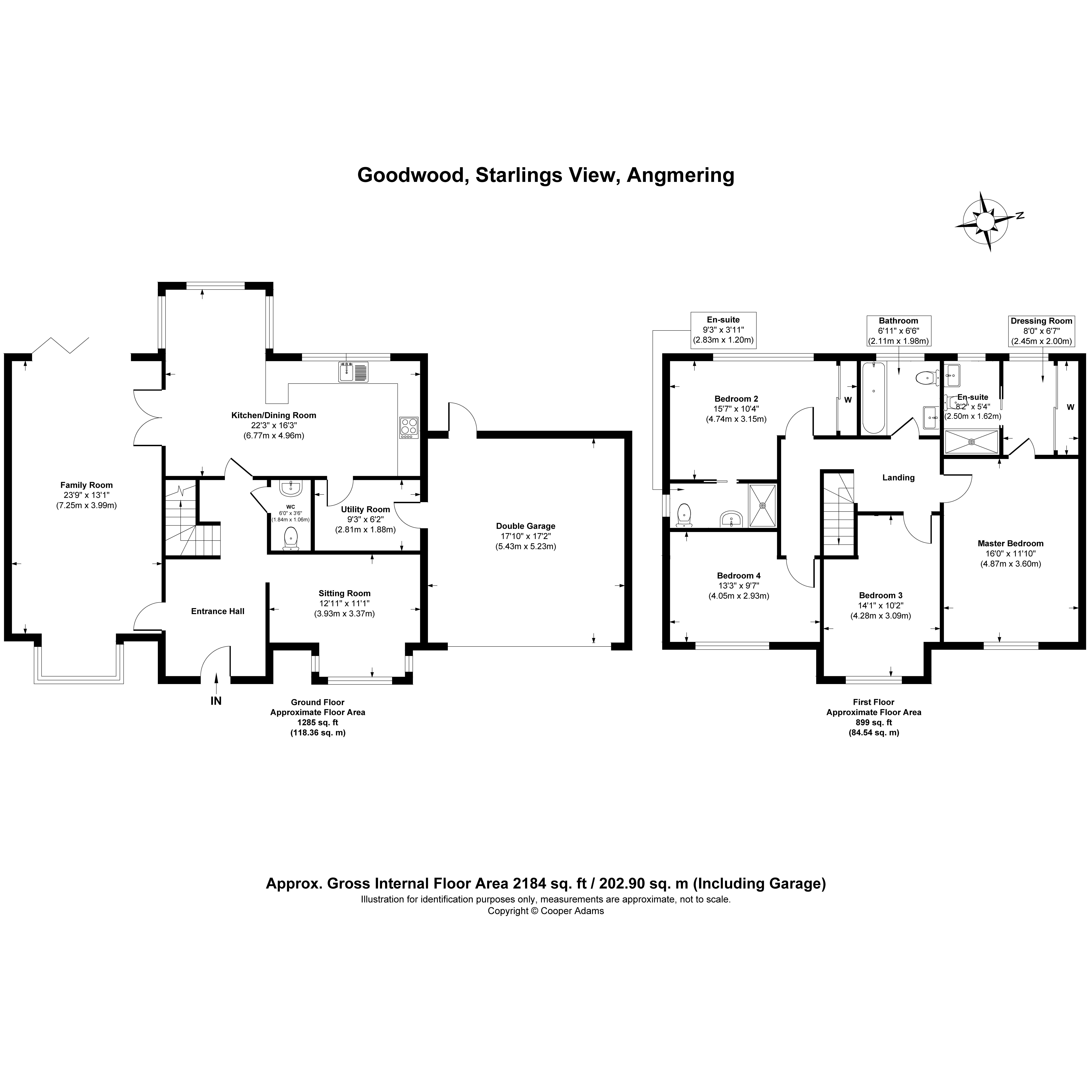 4 bed house for sale in Starlings View, Arundel Road, Angmering - Property Floorplan