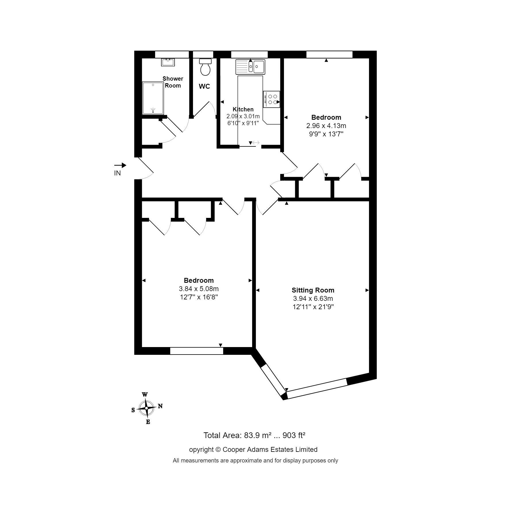 2 bed apartment for sale in Coppets Wood Fontwell Close, Rustington - Property Floorplan