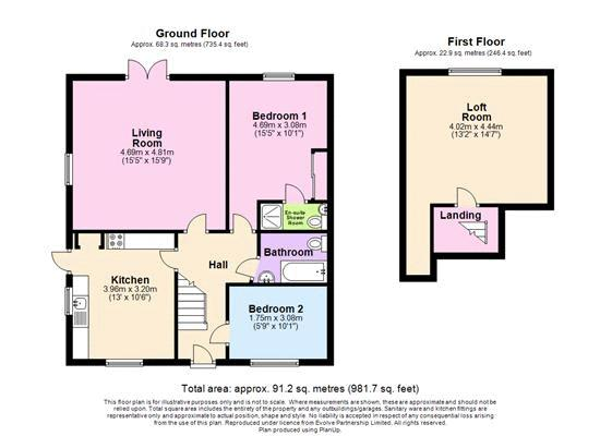 3 bed bungalow for sale in Queens Gardens, Chichester - Property Floorplan