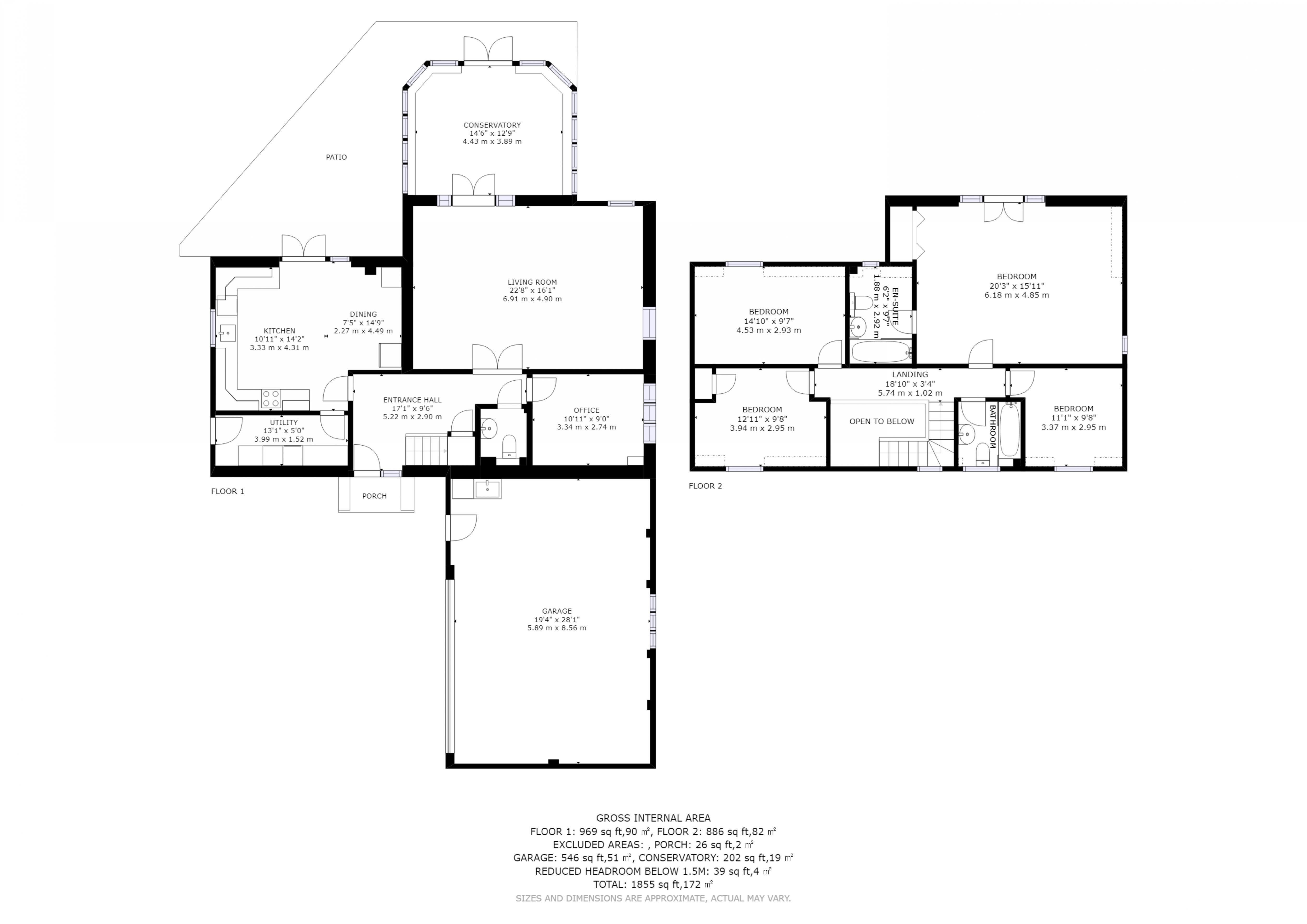 4 bed house for sale in Newells Lane, Chichester - Property Floorplan