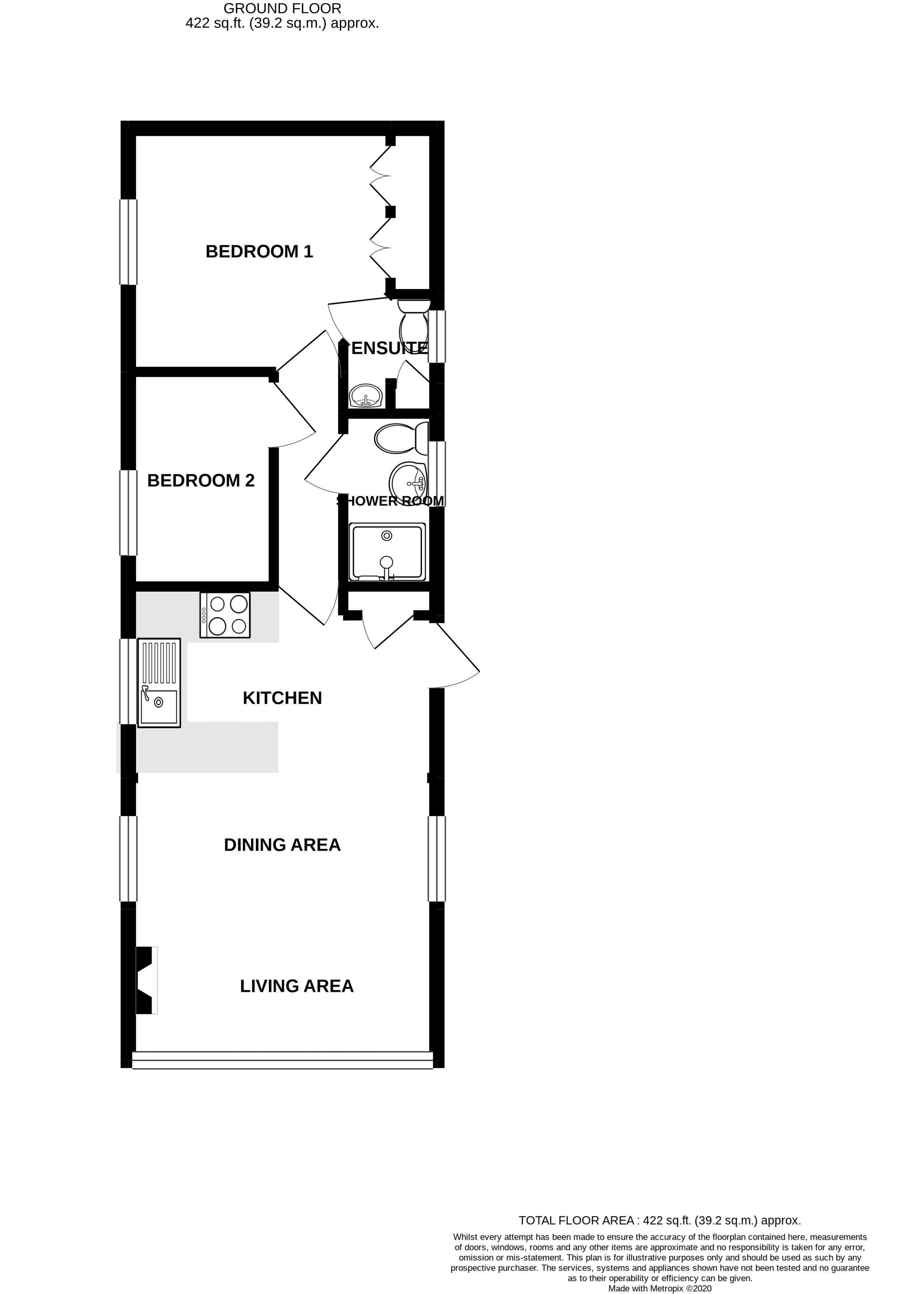 2 bed for sale in Vinnetrow Road, Chichester - Property Floorplan