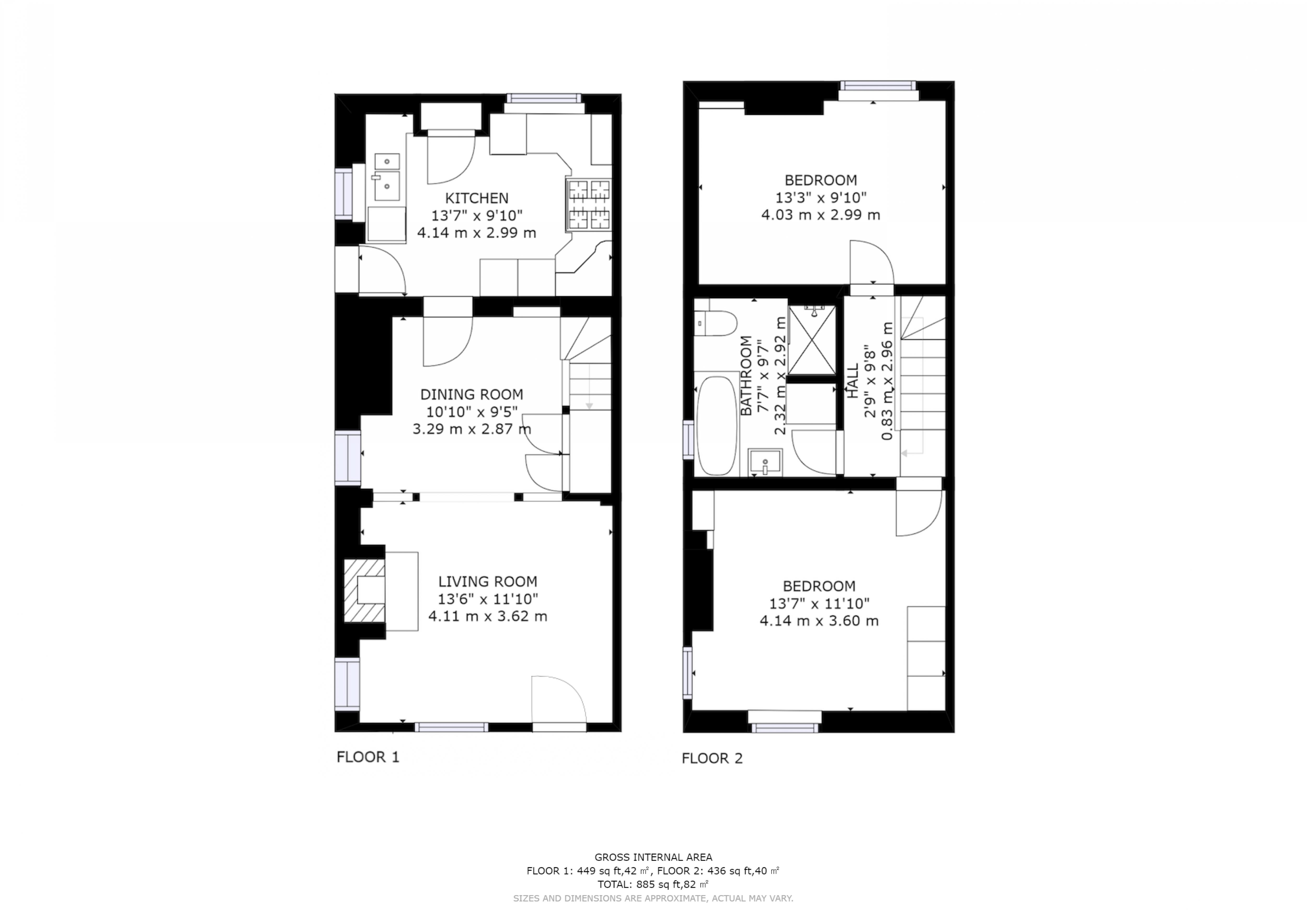 2 bed for sale in Main Road, Chichester - Property Floorplan