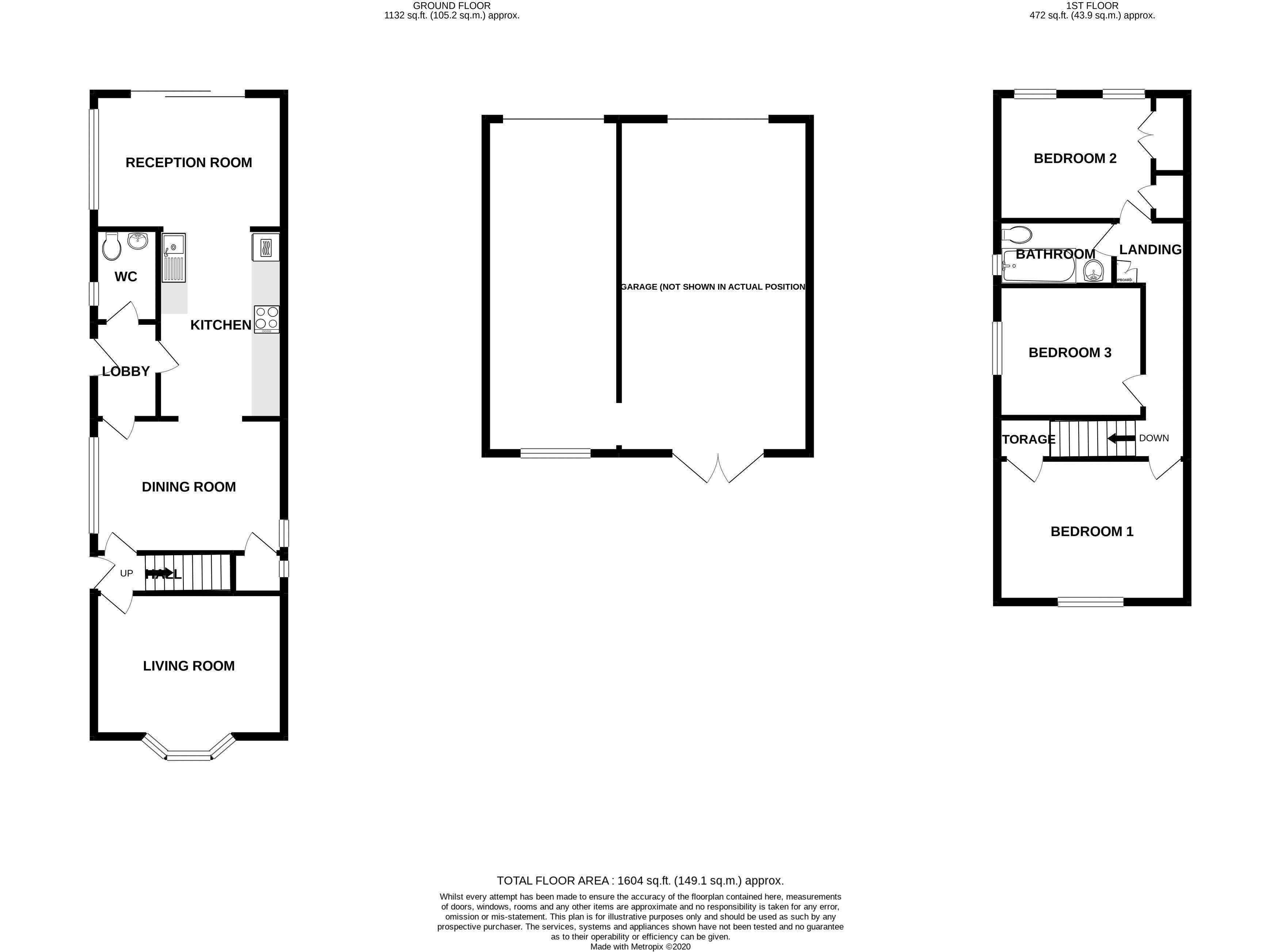 3 bed house for sale in Williams Road, Chichester - Property Floorplan