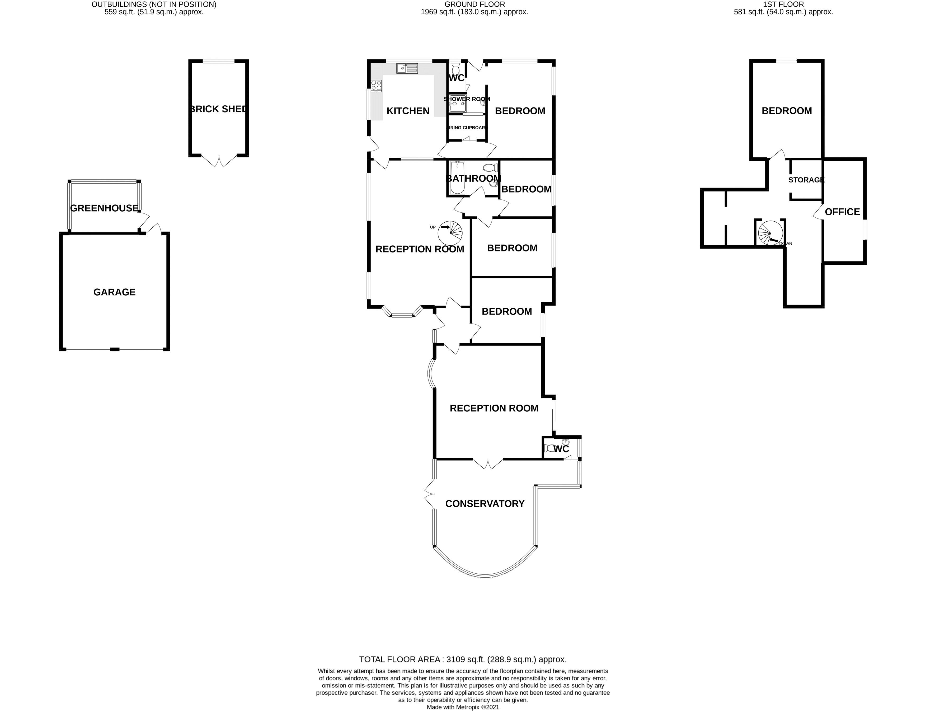 5 bed bungalow for sale in Westergate Street, Chichester - Property Floorplan